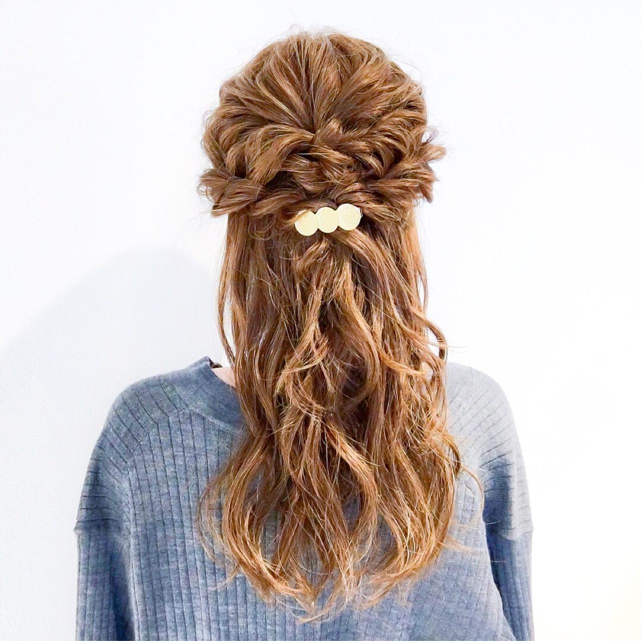 ロング フェミニン 結婚式 ヘアアレンジ ヘアスタイルや髪型の写真・画像