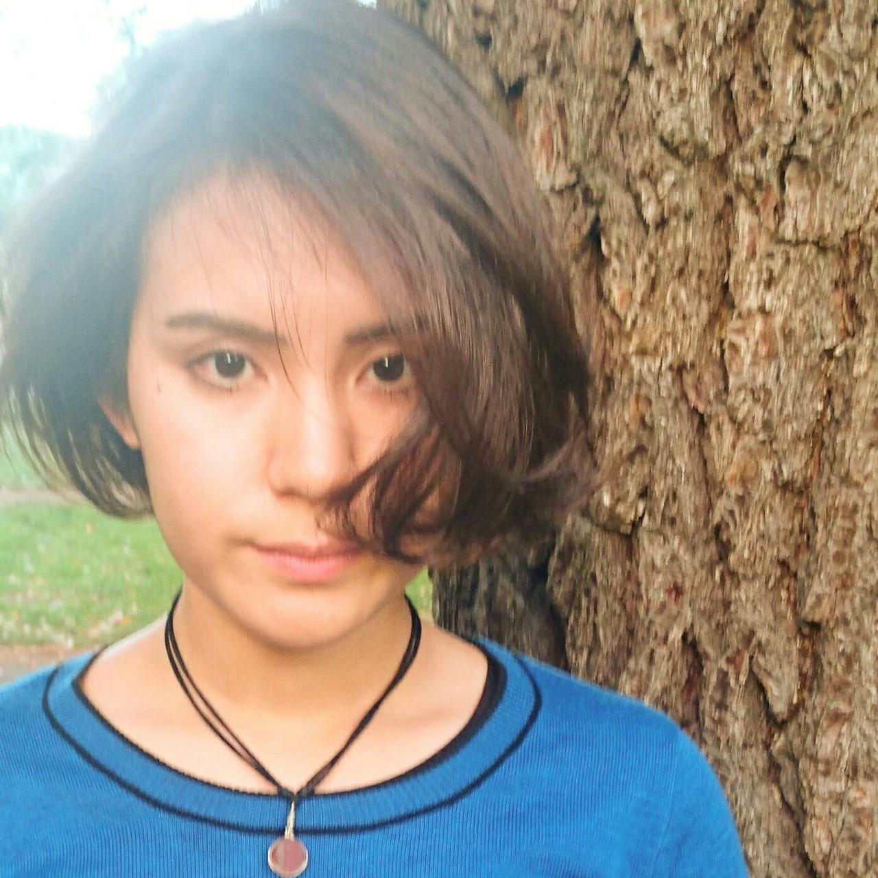 大人かわいい 艶髪 モード デジタルパーマ ヘアスタイルや髪型の写真・画像
