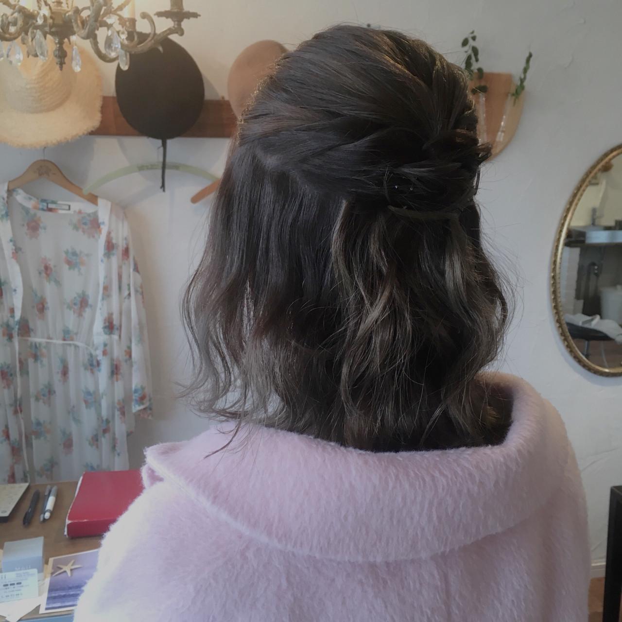 ヘアアレンジ デート 結婚式 エレガント ヘアスタイルや髪型の写真・画像