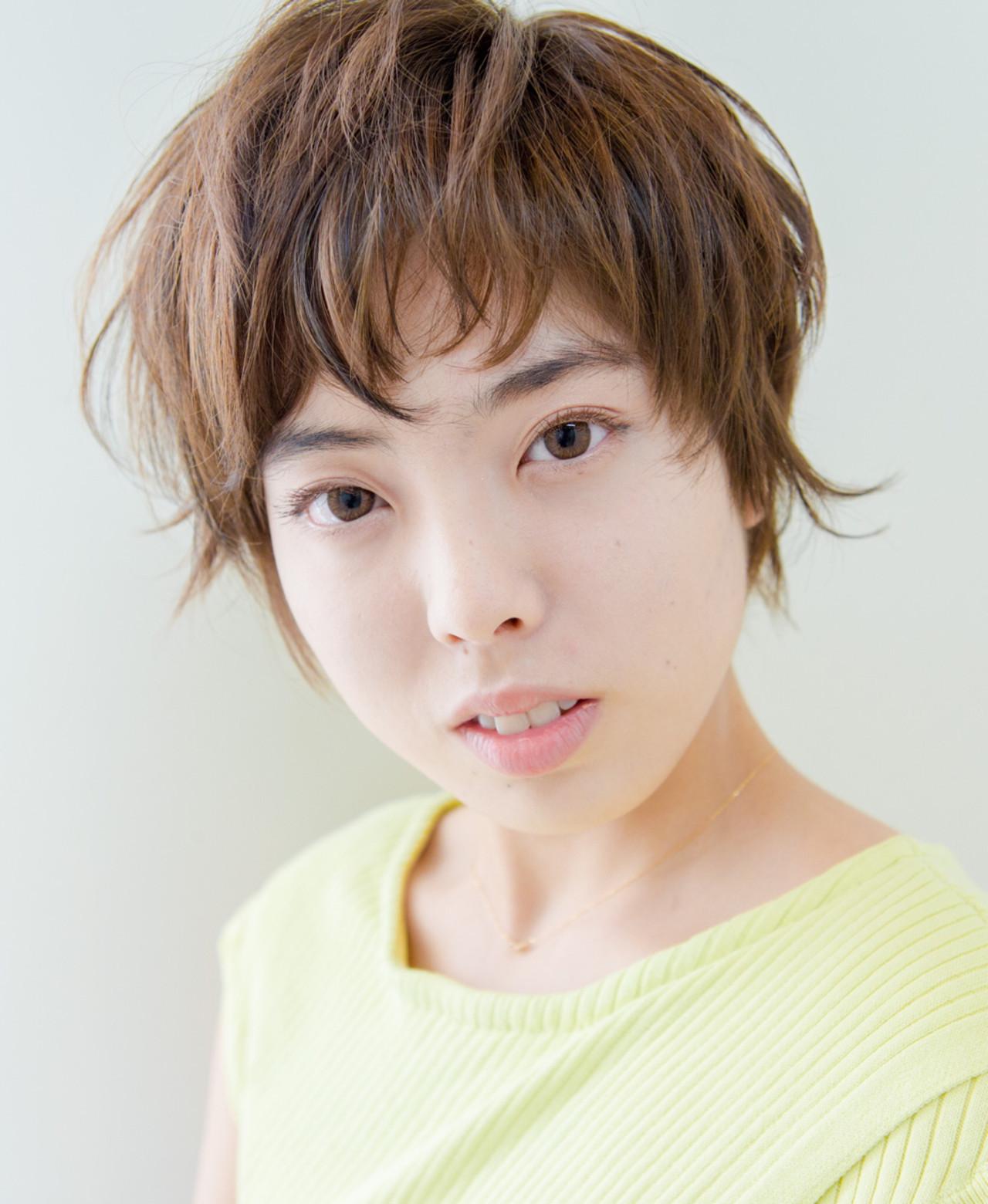 ボリュームのあるトップで丸顔をカバー! 内田 一也 | hair/nail space a:le