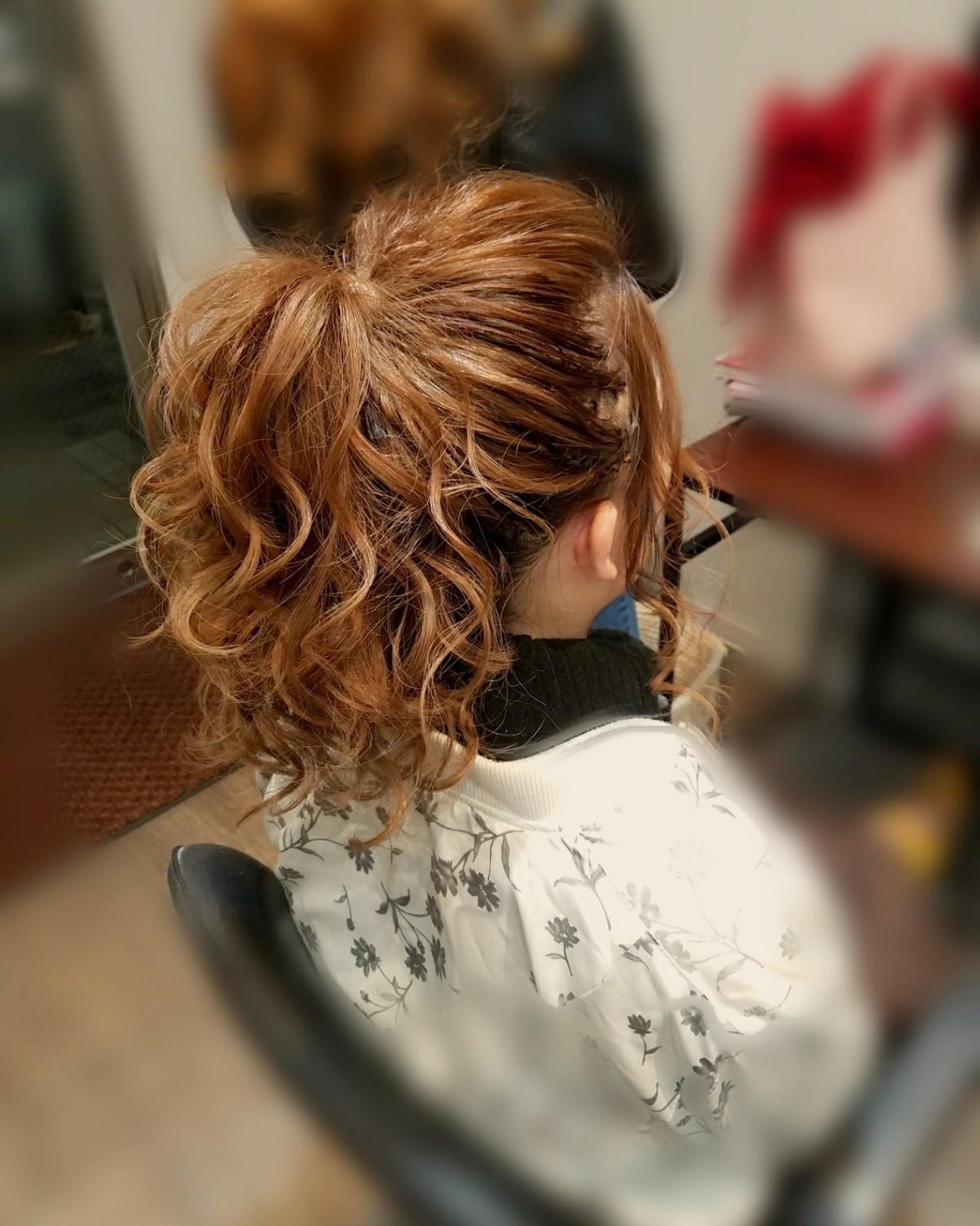 ポニーテール フェミニン ロング ヘアスタイルや髪型の写真・画像