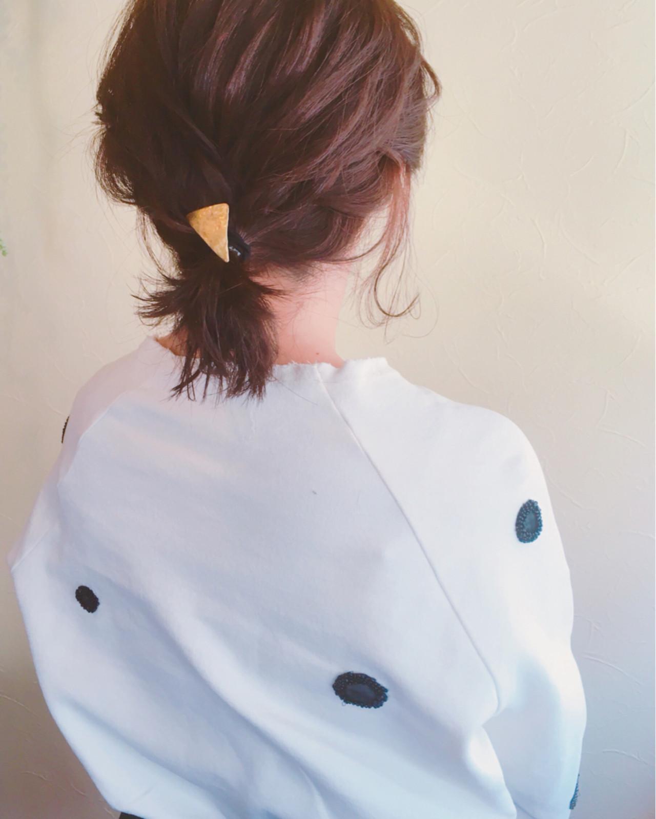 ヘアアレンジ 大人かわいい 簡単ヘアアレンジ ナチュラル ヘアスタイルや髪型の写真・画像