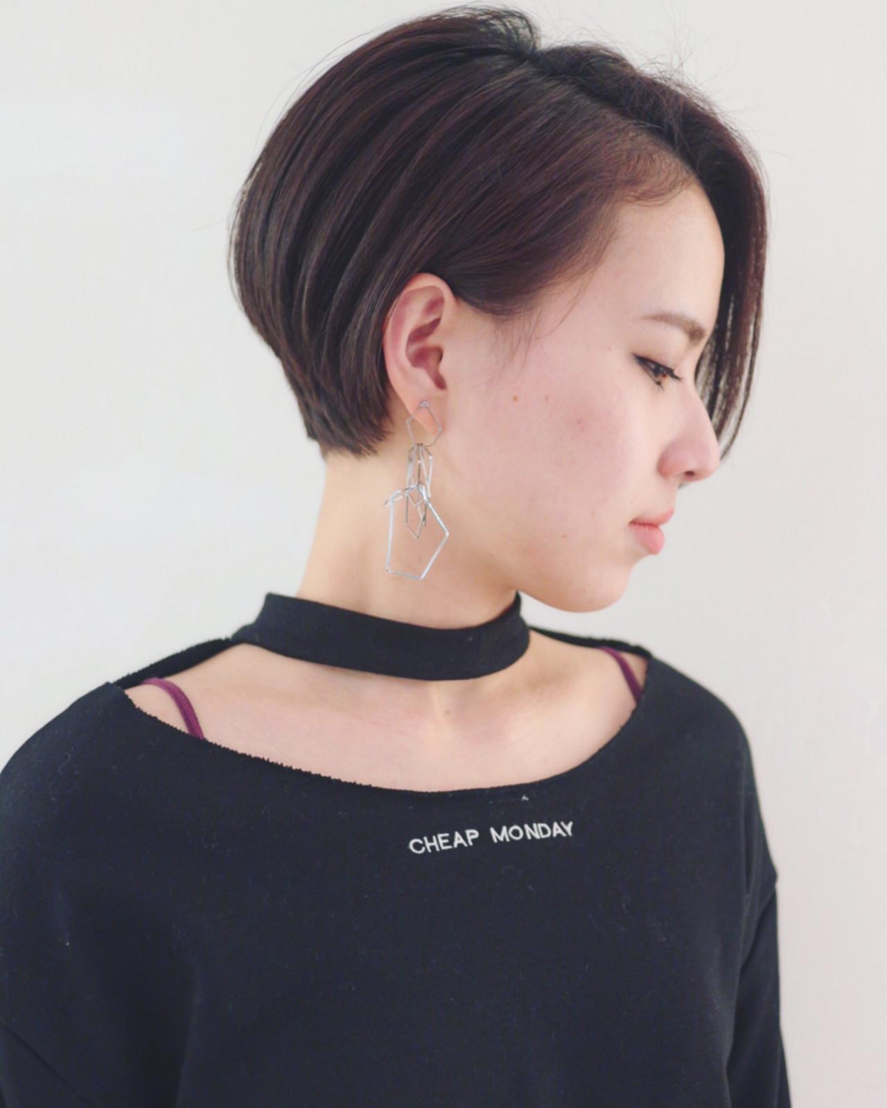 黒髪 かっこいい ショート モード ヘアスタイルや髪型の写真・画像