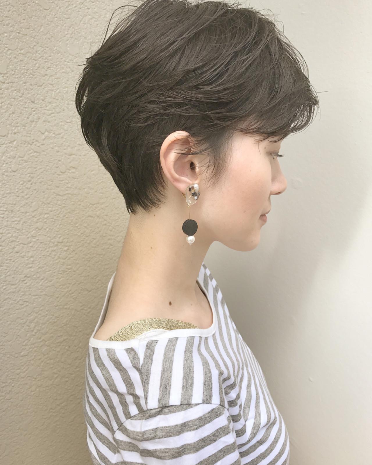 ナチュラル ショート 大人女子 オフィス ヘアスタイルや髪型の写真・画像