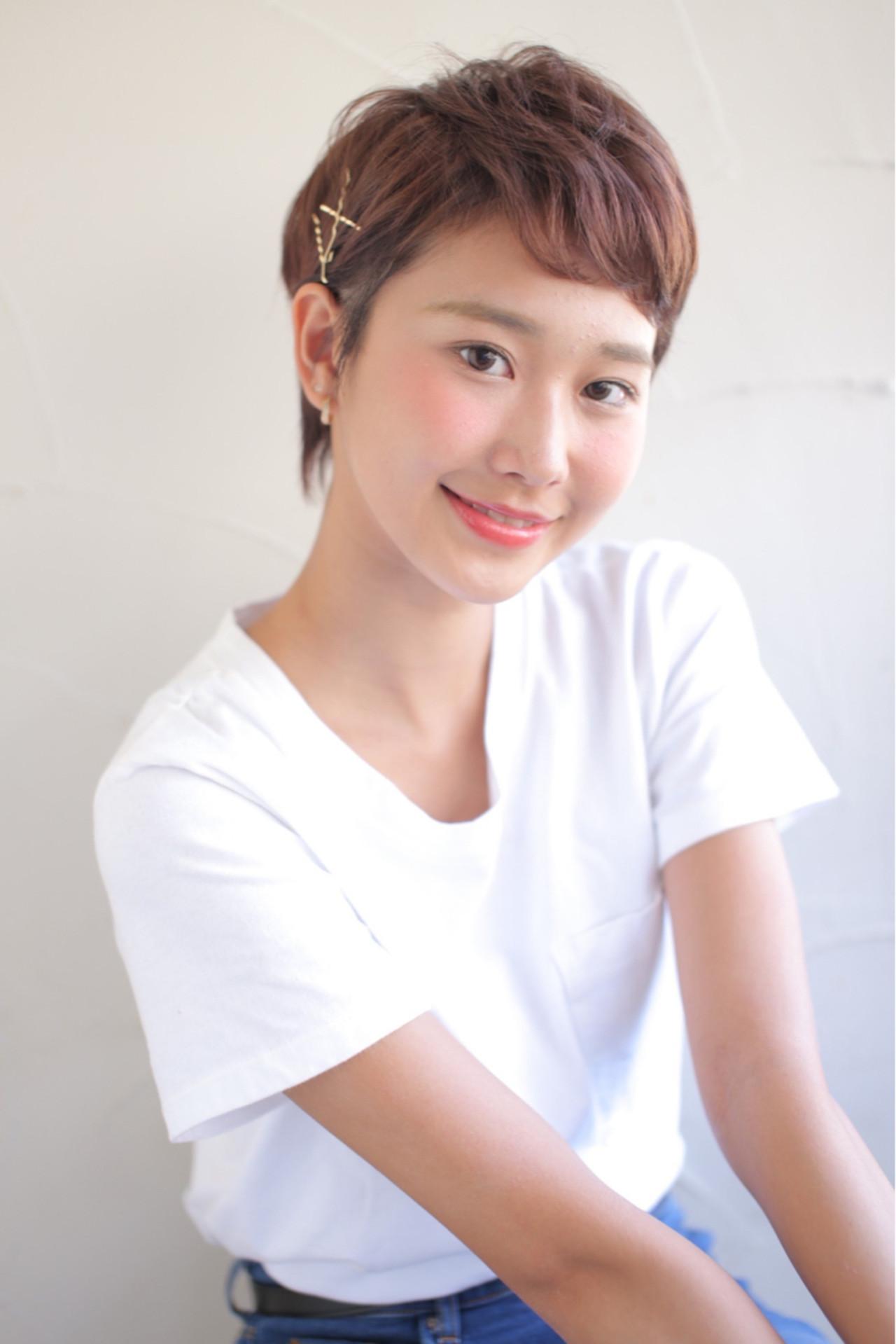 前髪あり ガーリー ヘアアレンジ 夏 ヘアスタイルや髪型の写真・画像