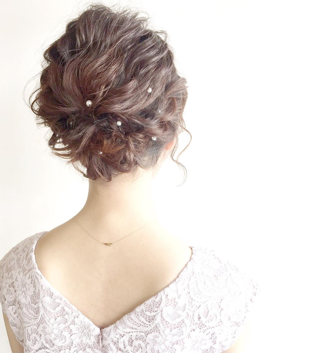結婚式 成人式 ナチュラル ヘアアレンジ ヘアスタイルや髪型の写真・画像