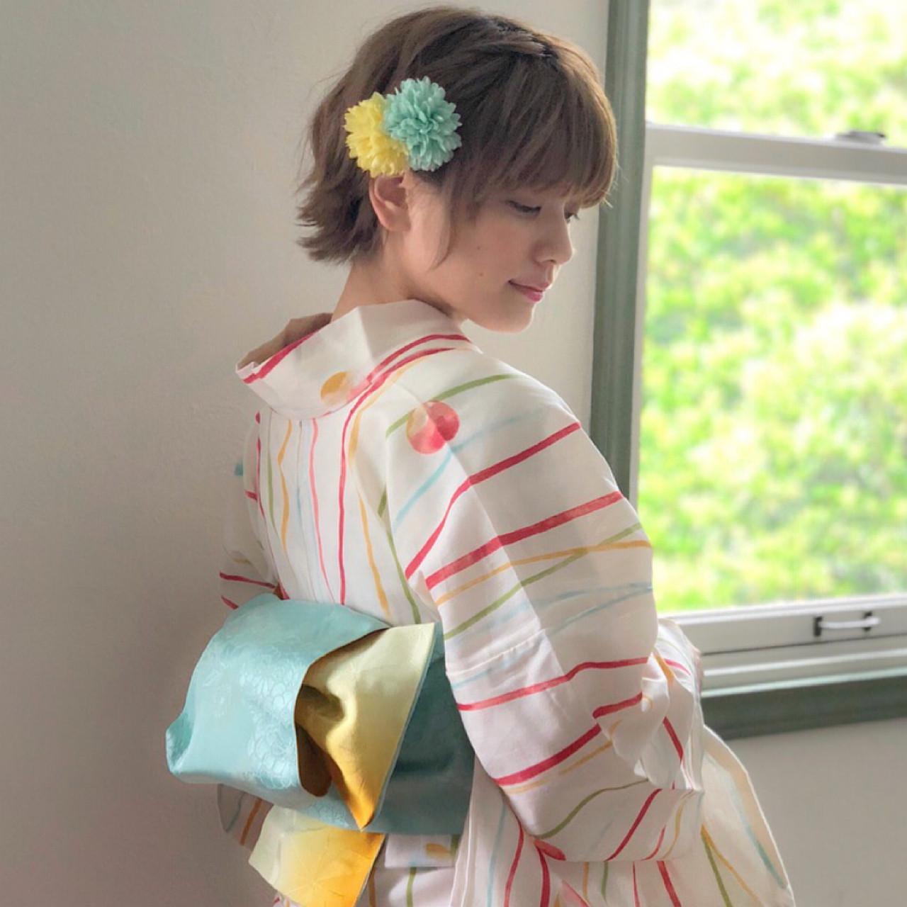 サイドを編み込んで華やかに♡ 石川 瑠利子