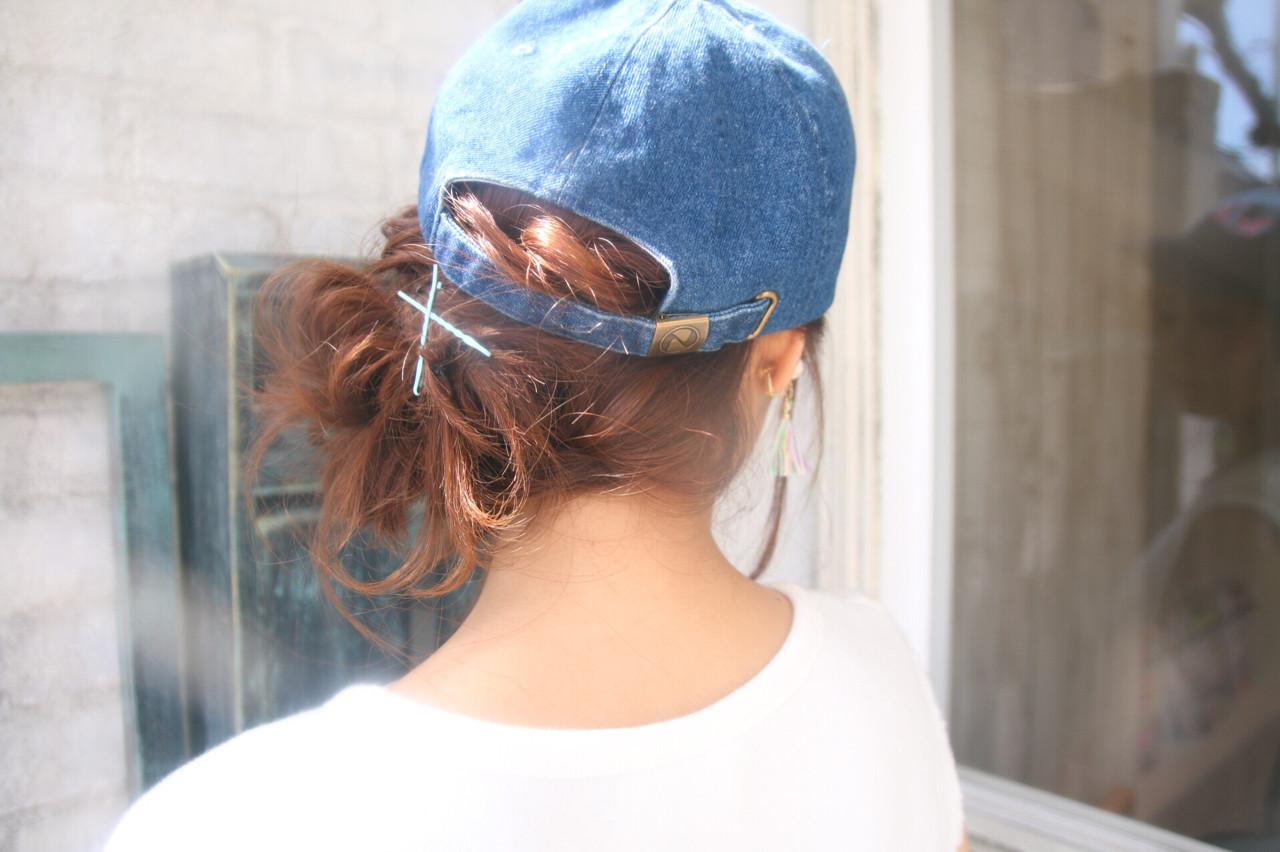 ヘアアレンジ リラックス ナチュラル セミロング ヘアスタイルや髪型の写真・画像