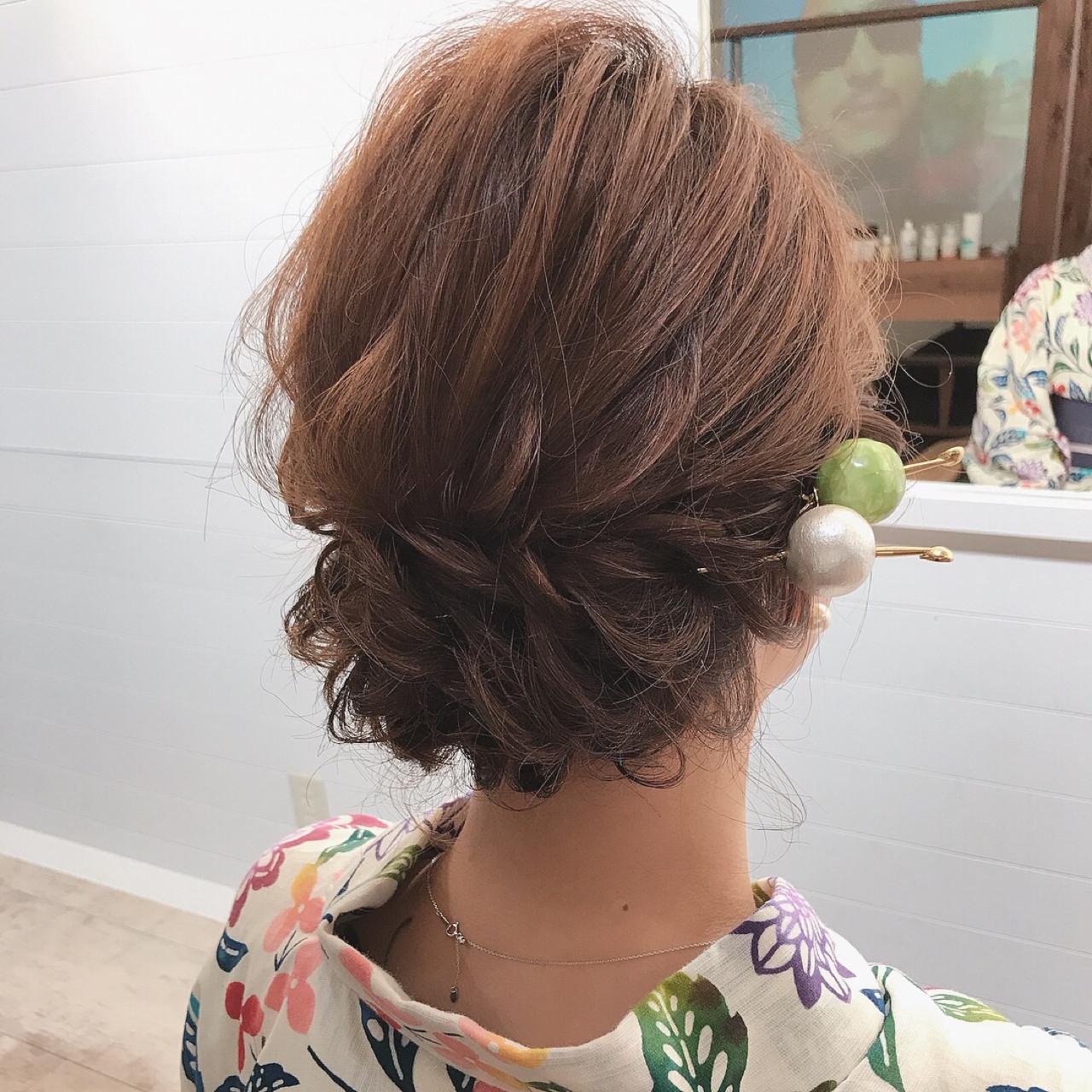 涼しげ 結婚式 お祭り 夏 ヘアスタイルや髪型の写真・画像