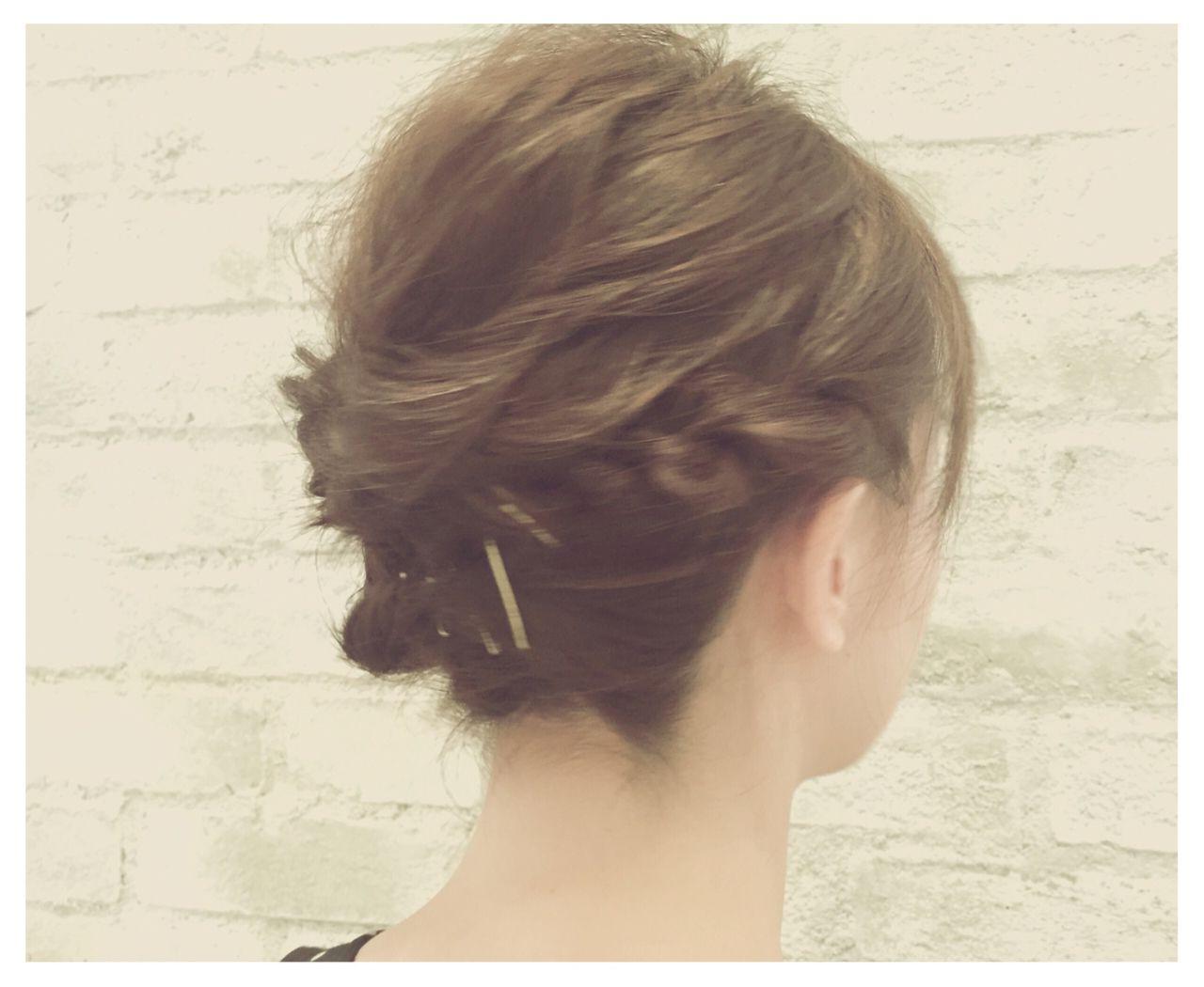 結婚式 簡単ヘアアレンジ ヘアアレンジ 大人かわいい ヘアスタイルや髪型の写真・画像