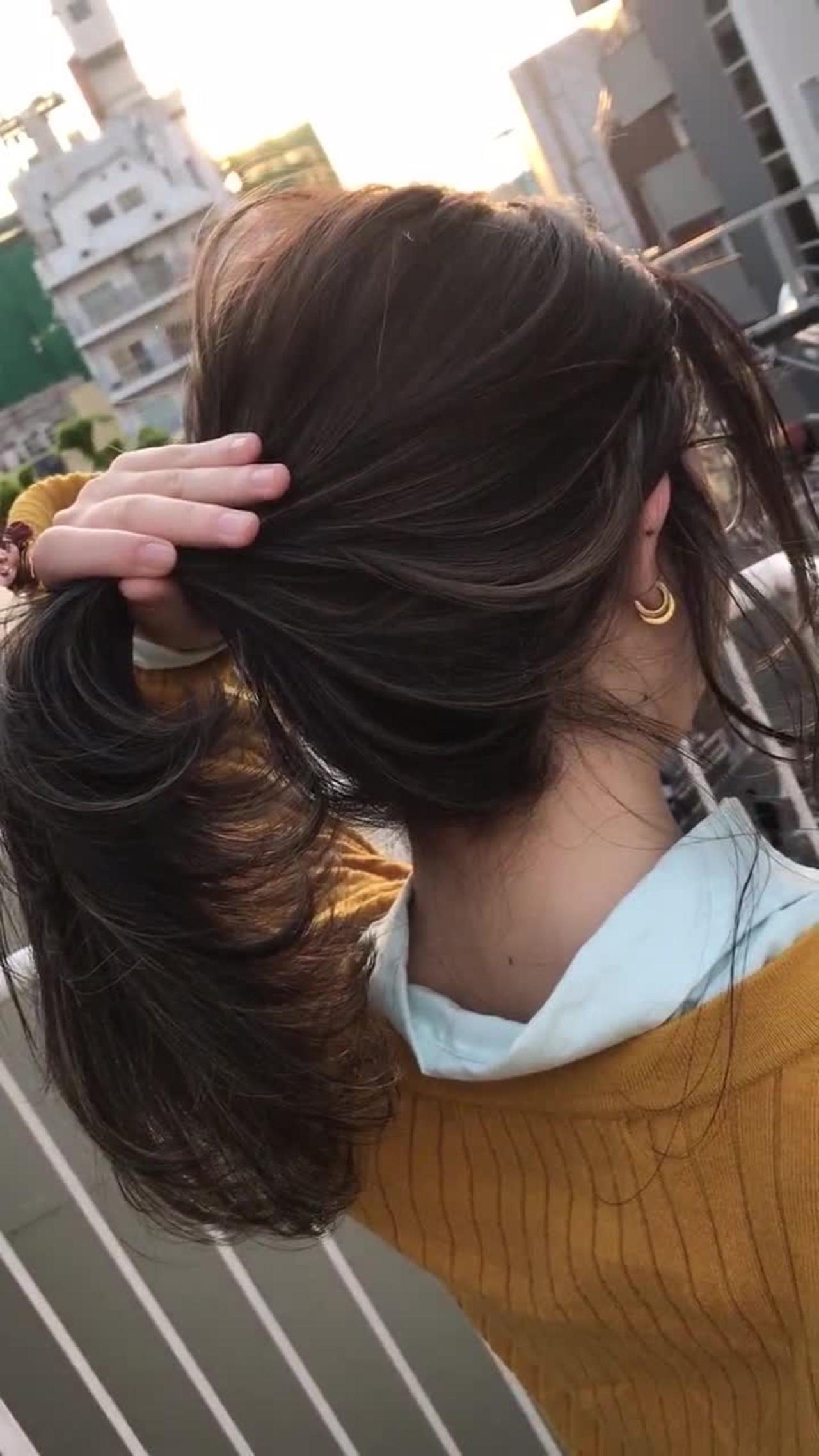 後頭部の髪のボリュームの出し方 miya/@1031miya