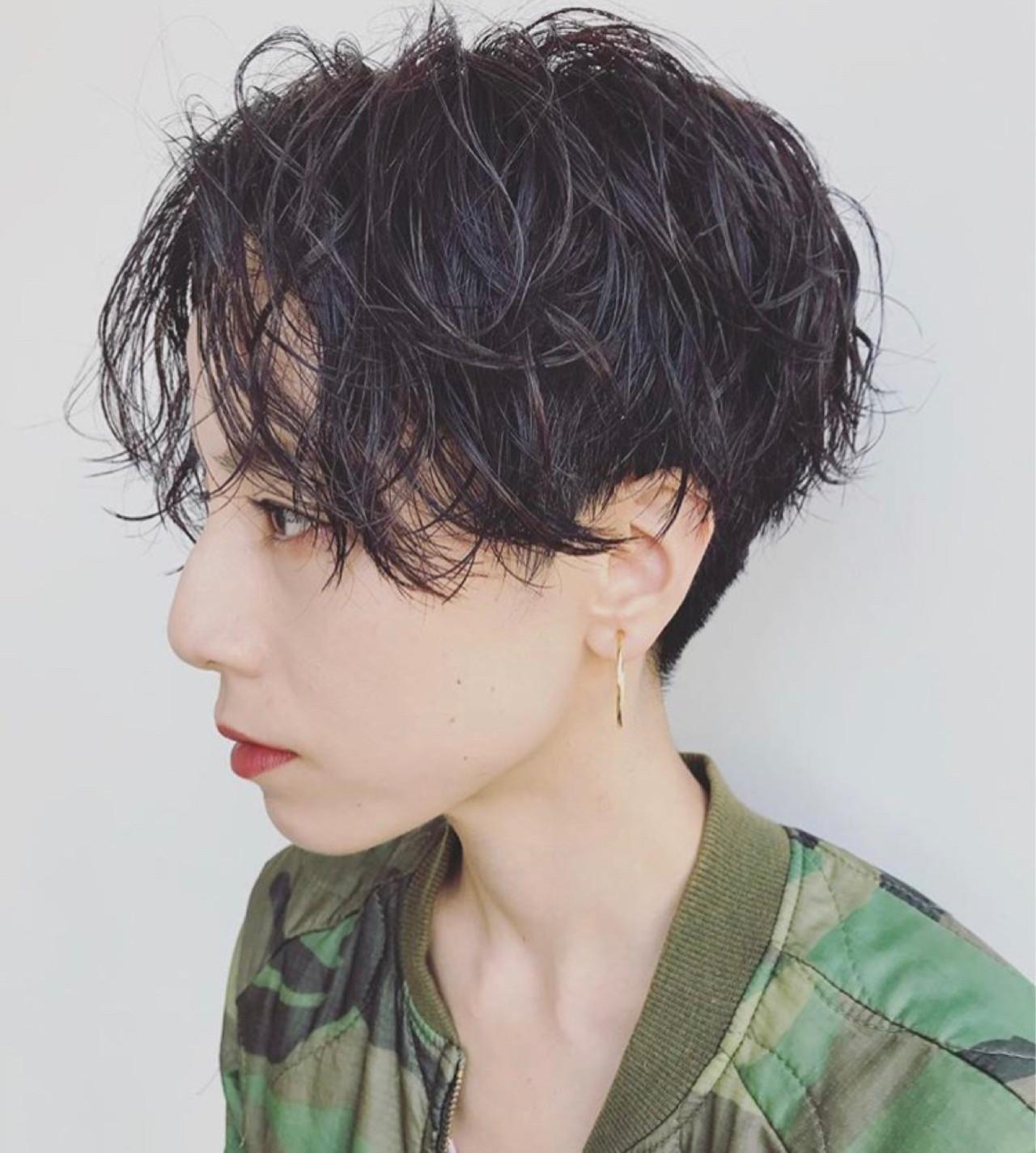 黒髪✕パーマでメンズっぽいかっこよさを 馬橋達佳