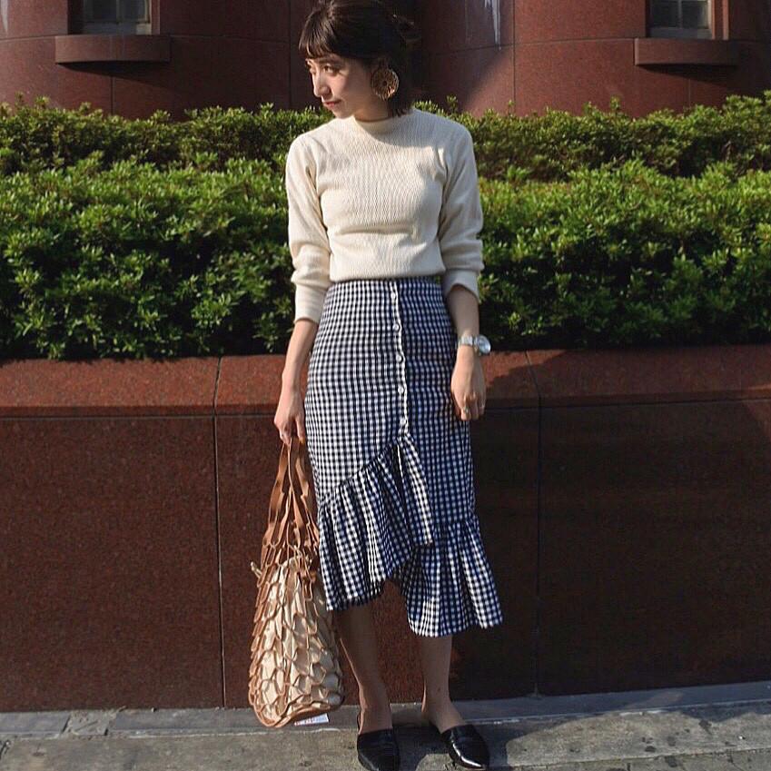 女っぽ♡ラッフルフリルスカート 出典:muu0103