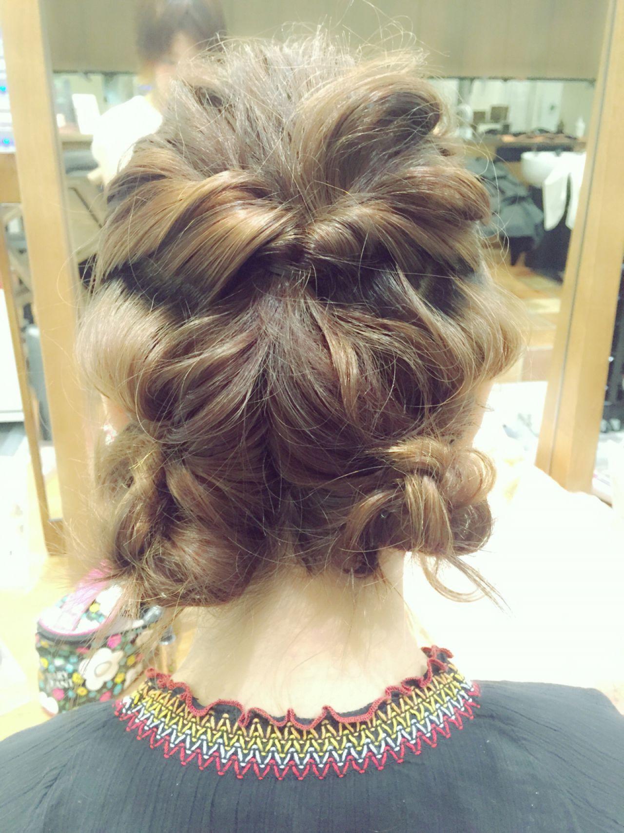 ヘアアレンジ ストリート 結婚式 簡単ヘアアレンジ ヘアスタイルや髪型の写真・画像