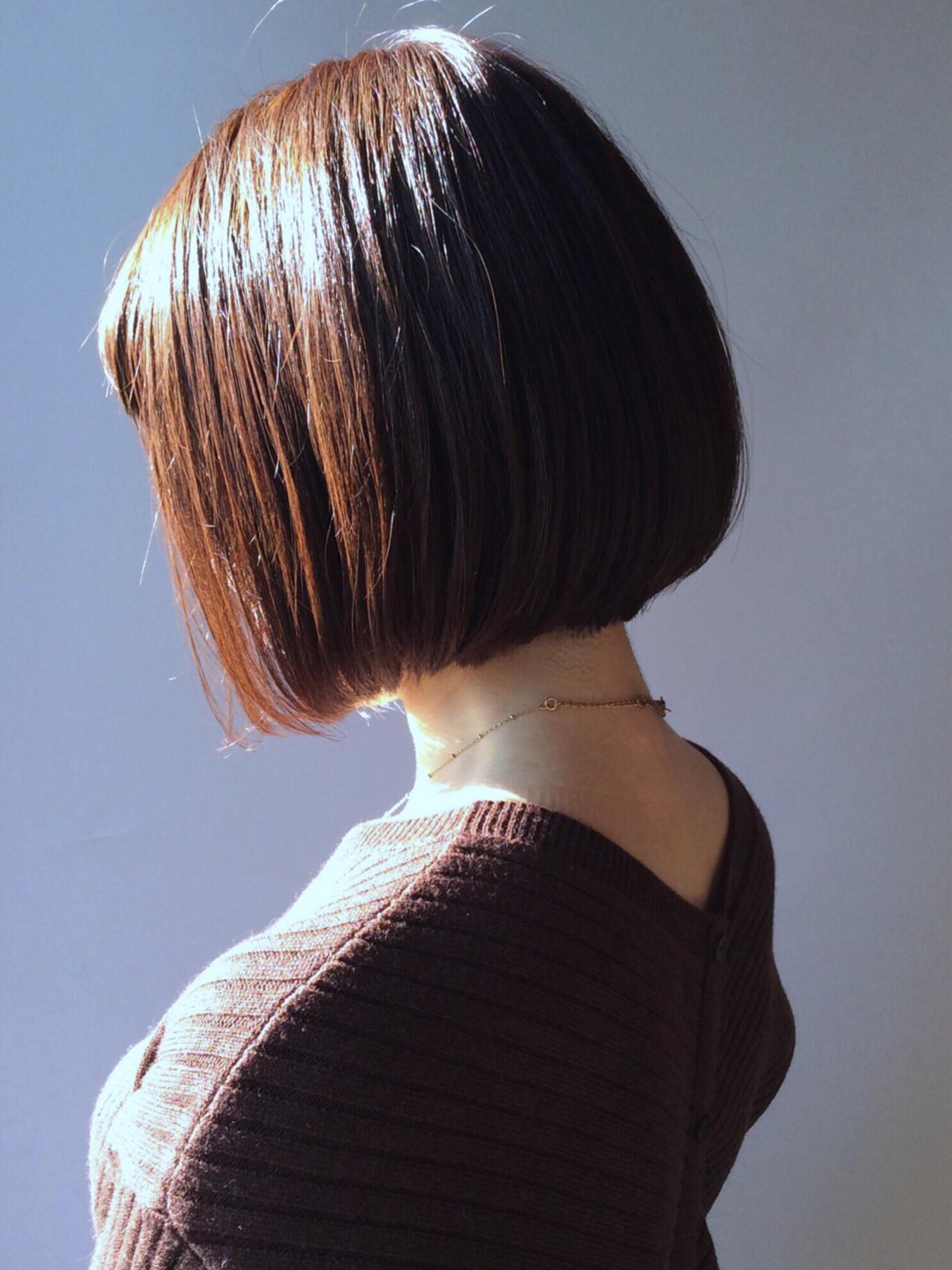 似合わせ ボブ 大人女子 小顔 ヘアスタイルや髪型の写真・画像