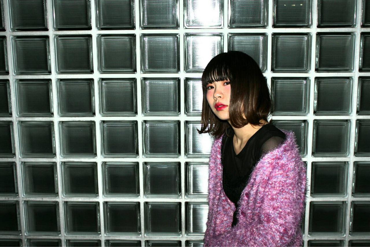 前髪も切りそろえてモードっぽい雰囲気♡ 倉嶋沙奈