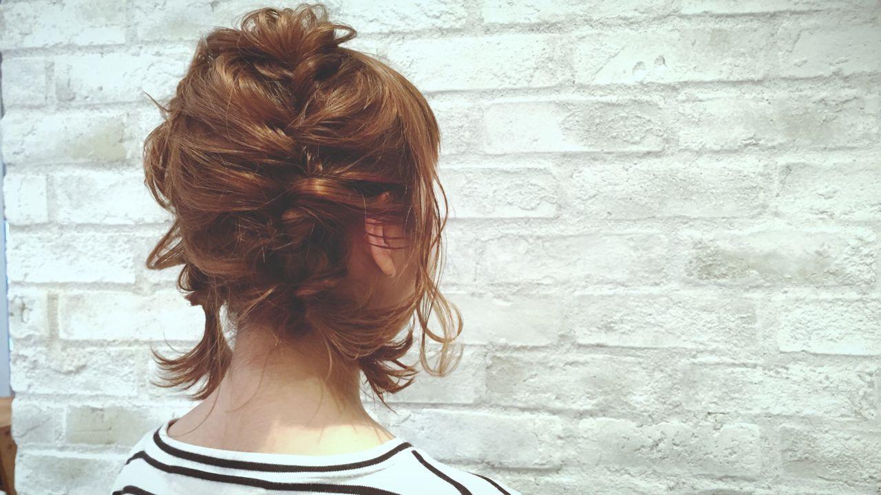 ヘアアレンジ 結婚式 ボブ パーティ ヘアスタイルや髪型の写真・画像