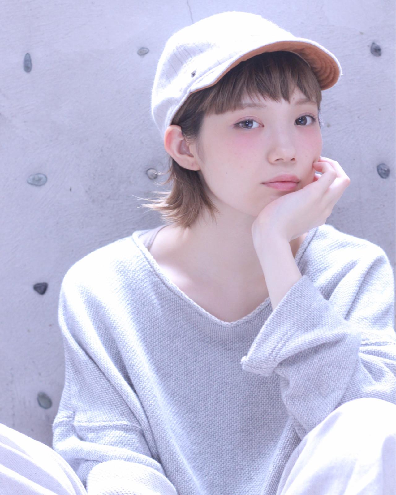 ショート×帽子で動きやすいスタイルに♪ Wataru Maeda | cache cache