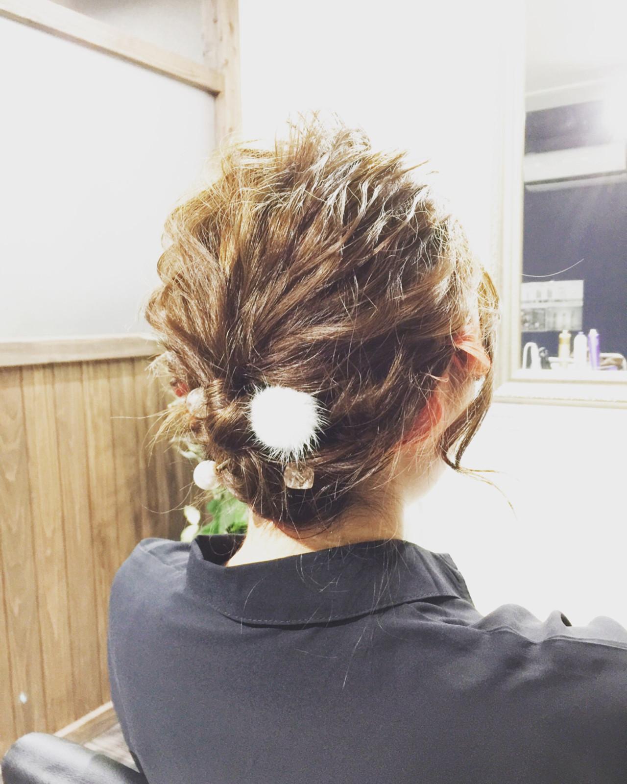 ショート ヘアアレンジ ガーリー 結婚式 ヘアスタイルや髪型の写真・画像