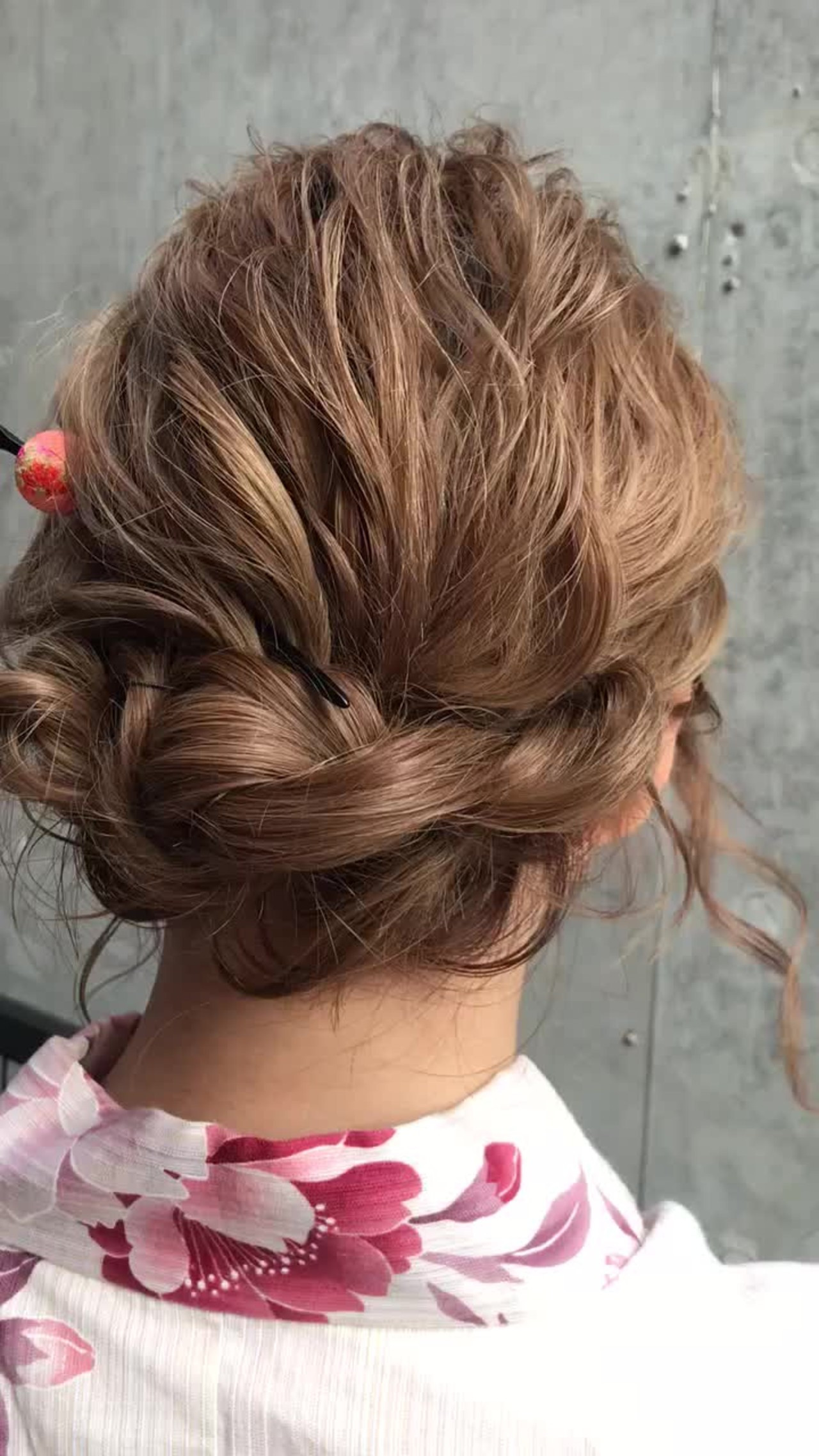 ヘアアレンジ セミロング デート アウトドア ヘアスタイルや髪型の写真・画像