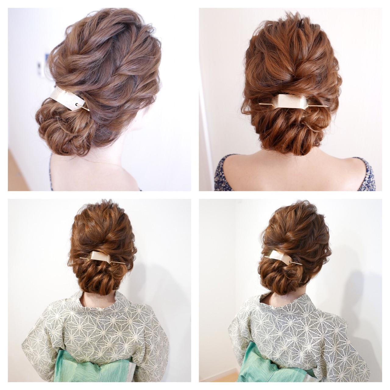 ゆるふわ ヘアアレンジ ロング 和装 ヘアスタイルや髪型の写真・画像