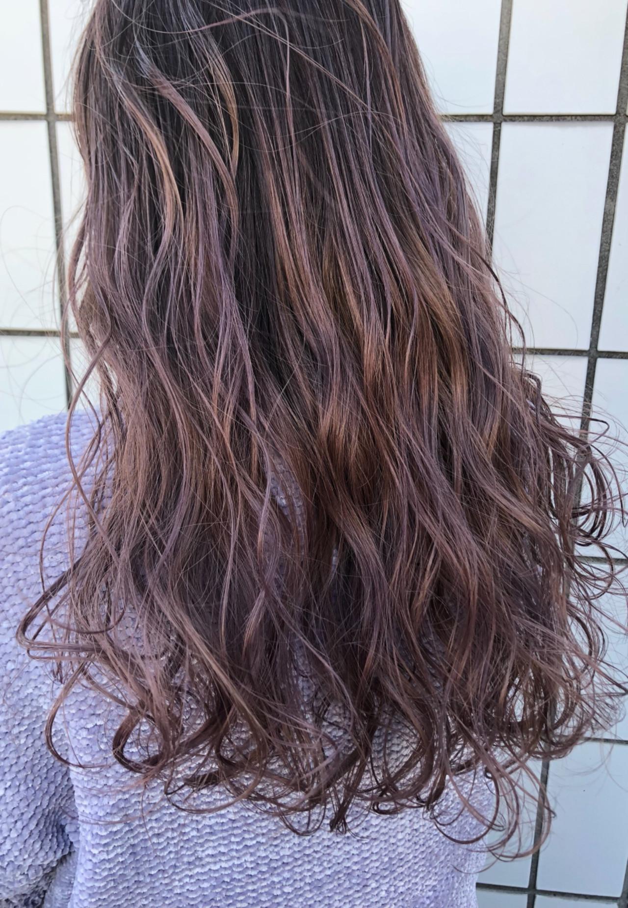 ロングは明るめのピンクグラデで透け感UP♡ CHIEMI  Lyon hair&makeup