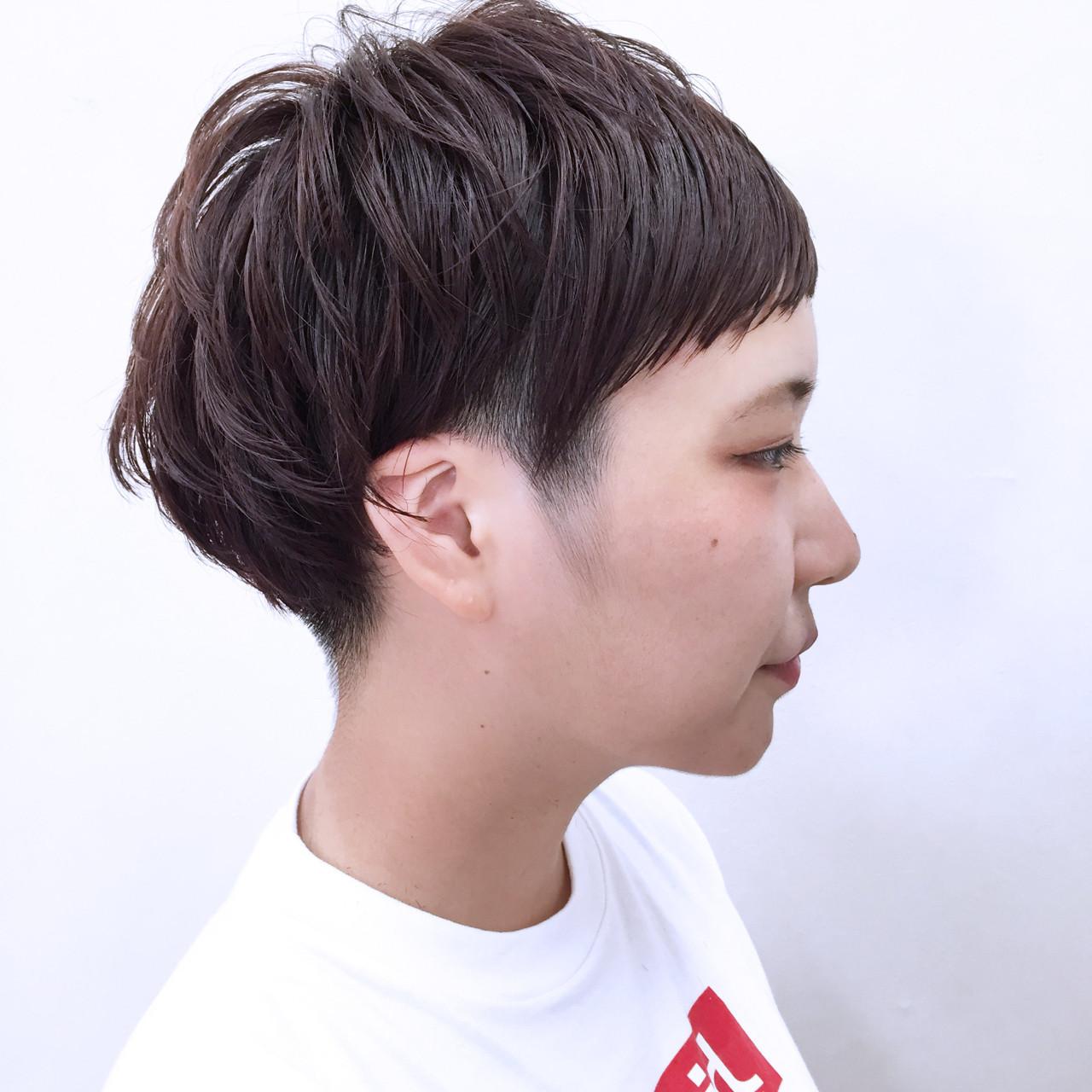 ベビーバング×黒髪マッシュショートでピュア感♡ YSO | 電髪倶楽部street