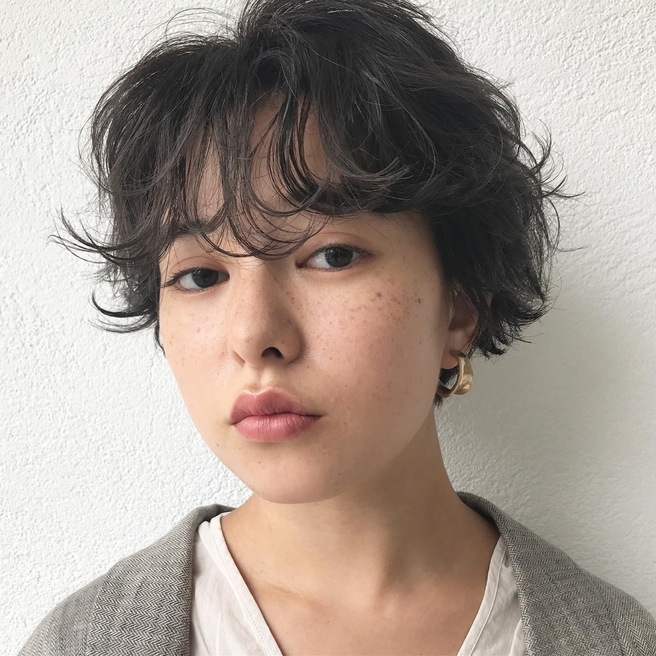 マッシュショートボブにゆるふわパーマ 高橋 忍 | nanuk渋谷店(ナヌーク)