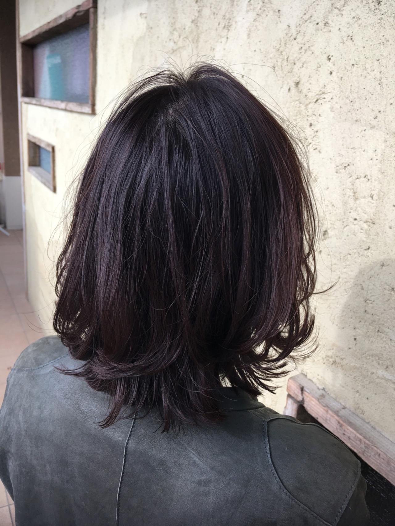 ラベンダーアッシュのツヤっぽスタイル 下田 真隆