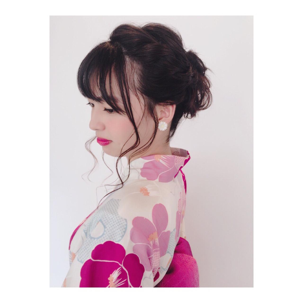 夏 ガーリー デート 花火大会 ヘアスタイルや髪型の写真・画像