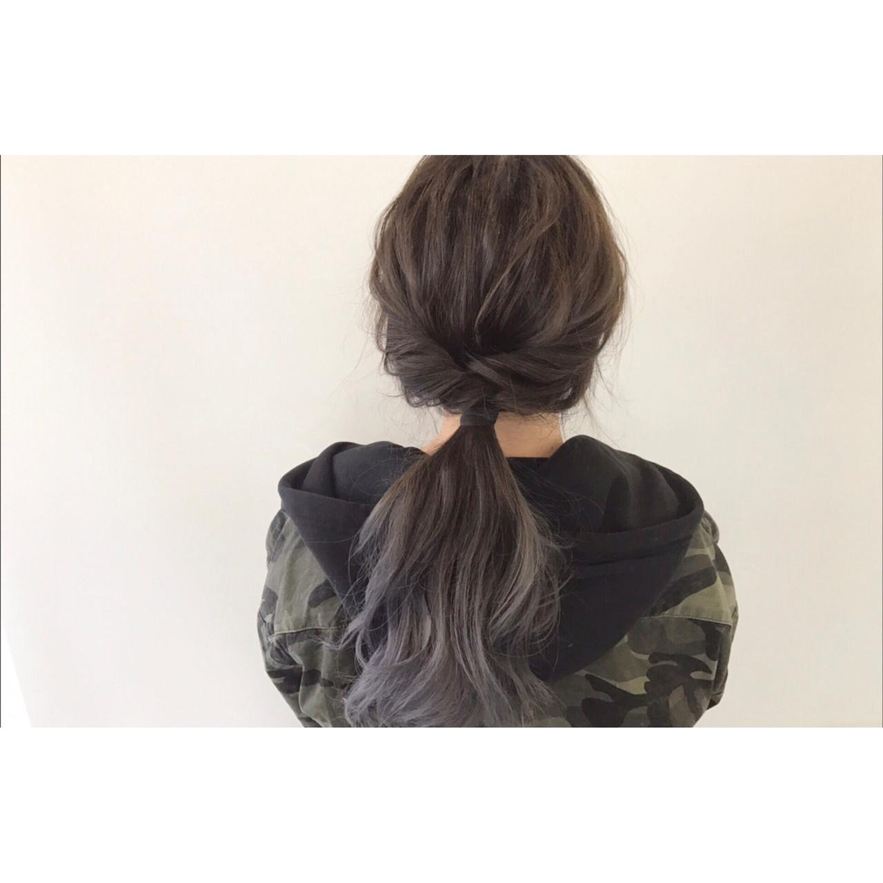 ロングヘアのくるりんぱヘアアレンジ 新谷 朋宏
