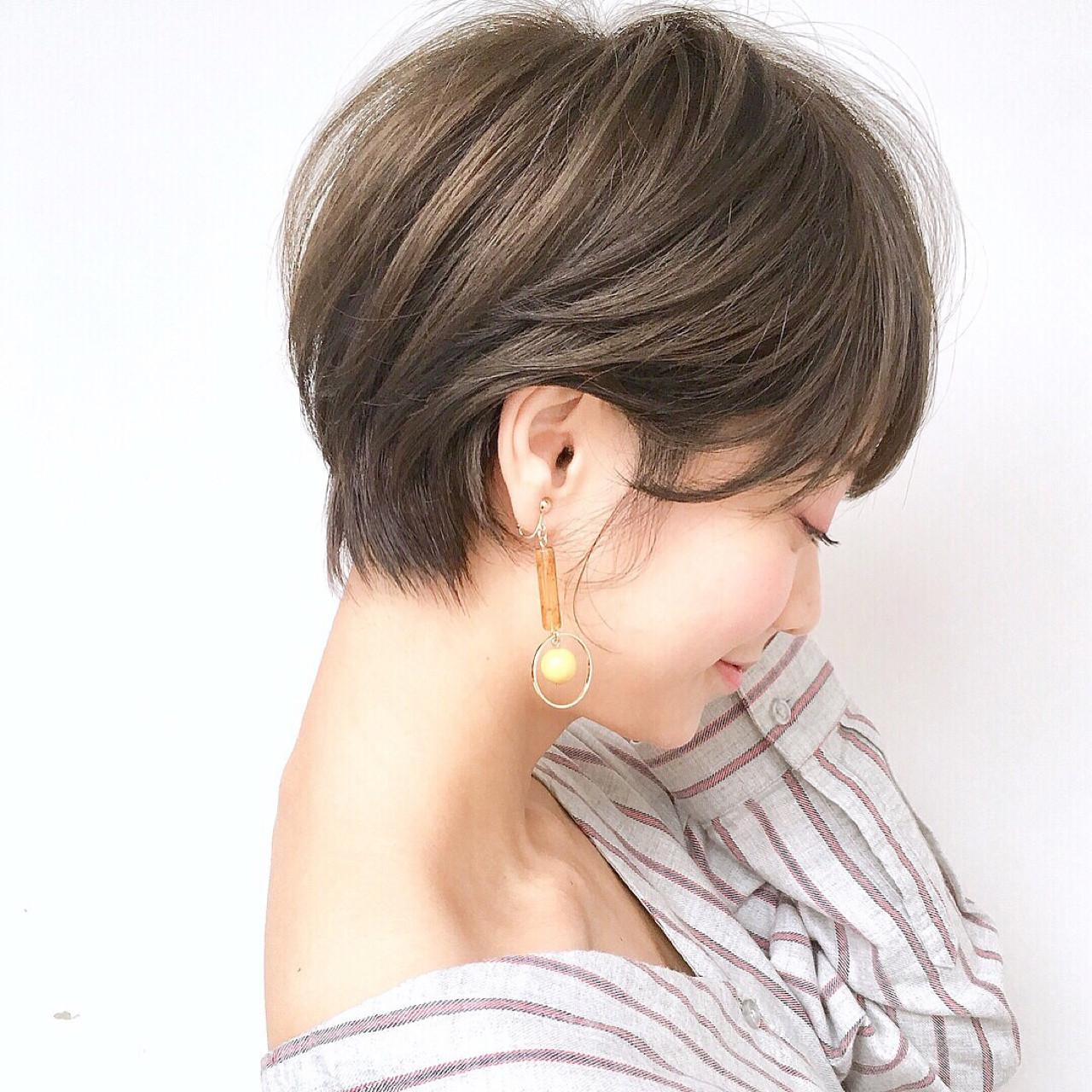 透明感 ショート ゆるふわ 色気 ヘアスタイルや髪型の写真・画像