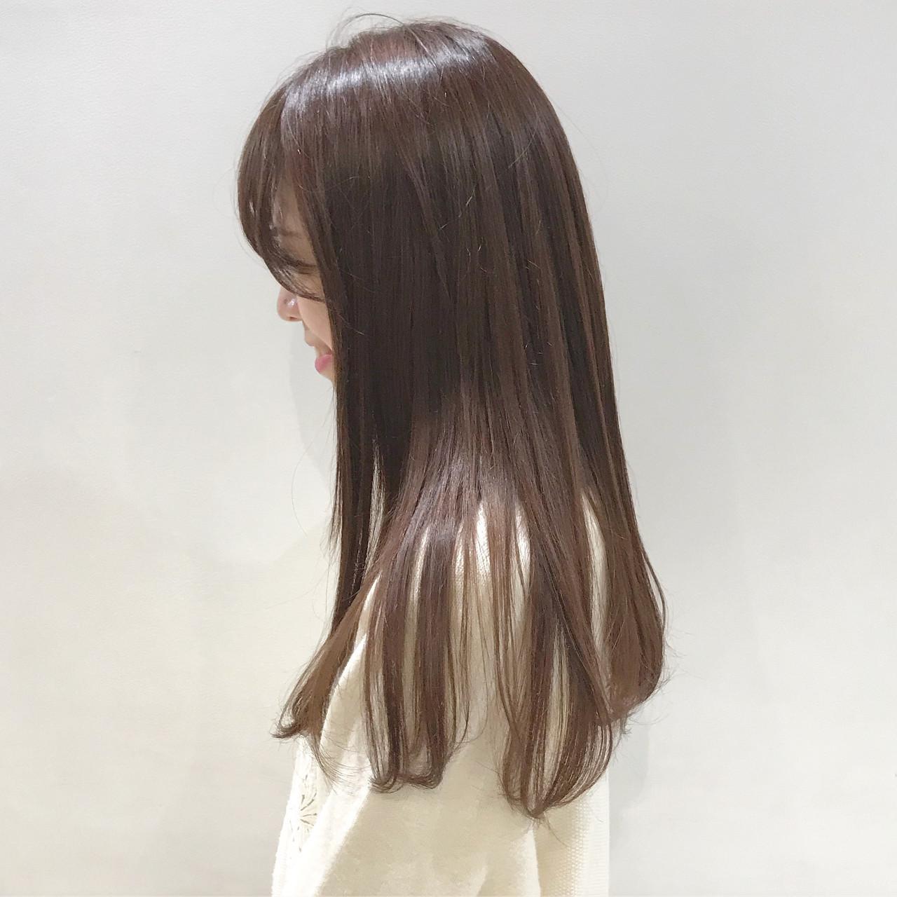 ツヤっぽピンクベージュで大人可愛い髪色に SHUN