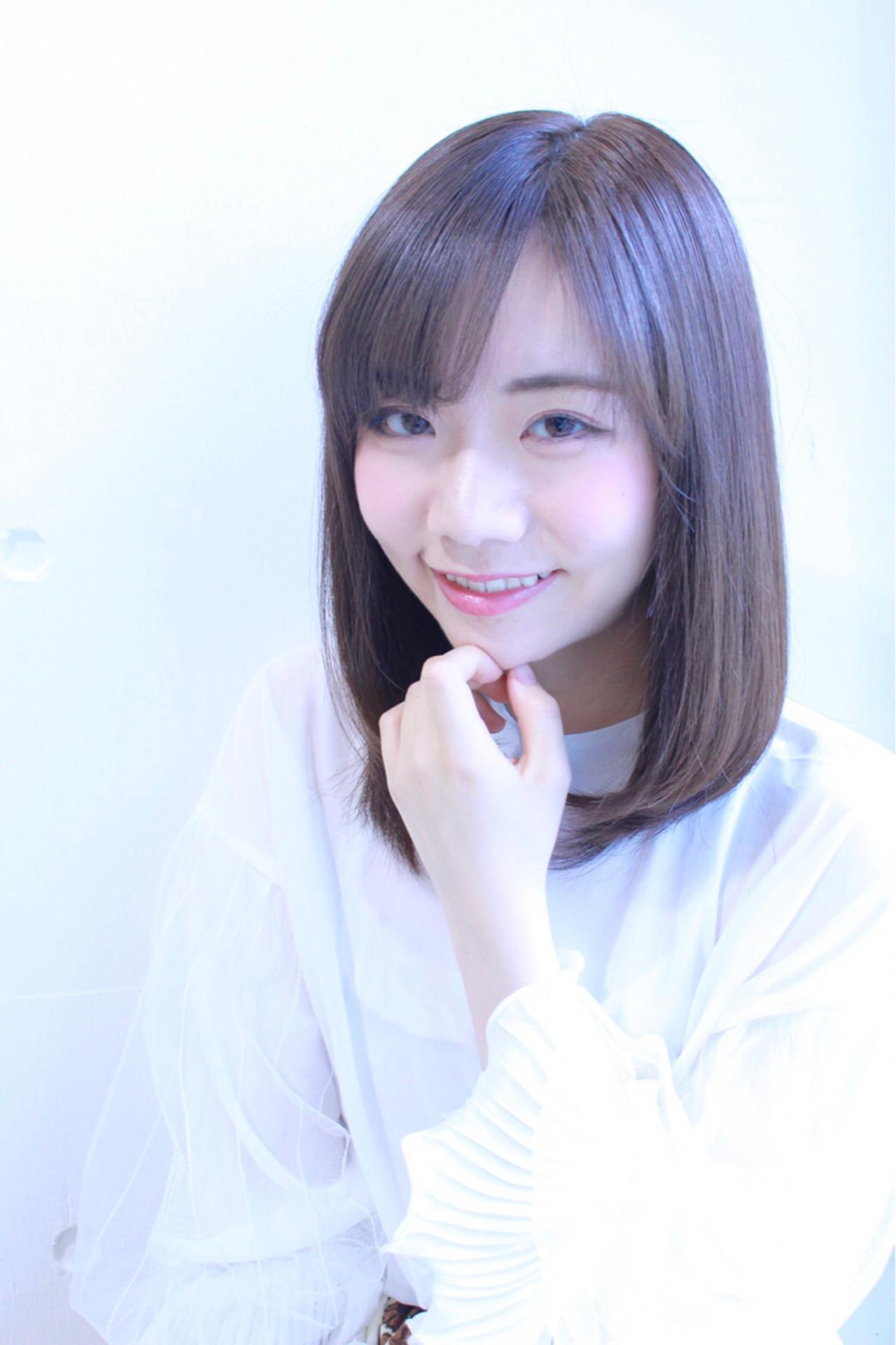 ほの揺れ清楚なミディアムストレート 大嶋 理紗
