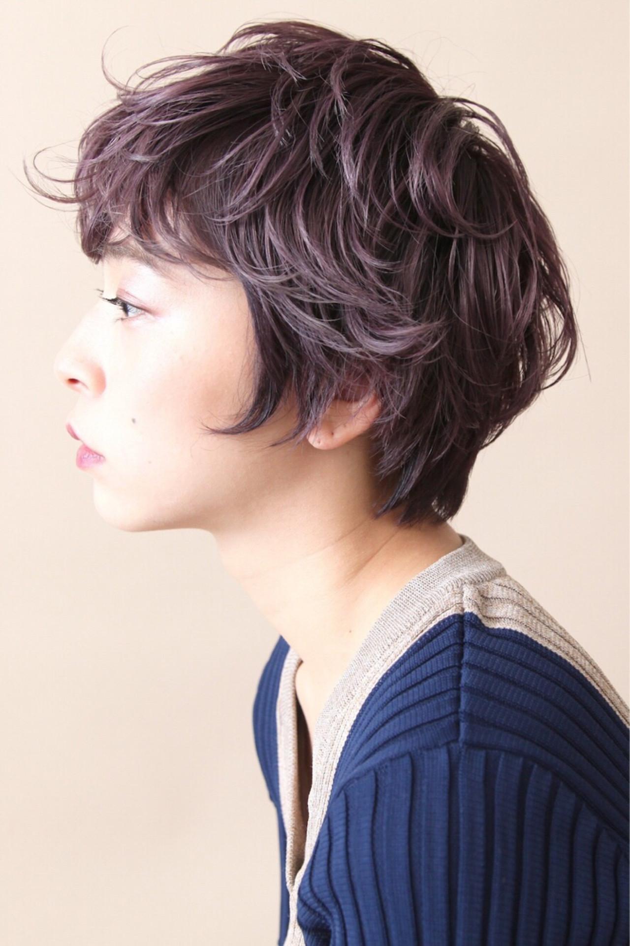 ショートヘアならラベンダーピンクでモード系に♪ 畑山拓也  Baco.