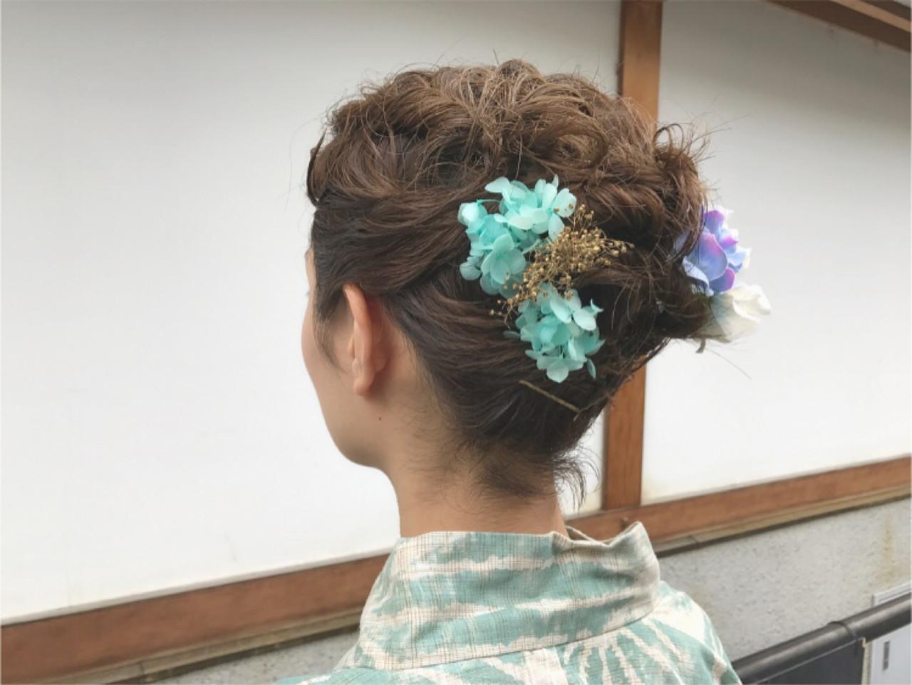 ヘアアレンジ 夏 ショート デート ヘアスタイルや髪型の写真・画像
