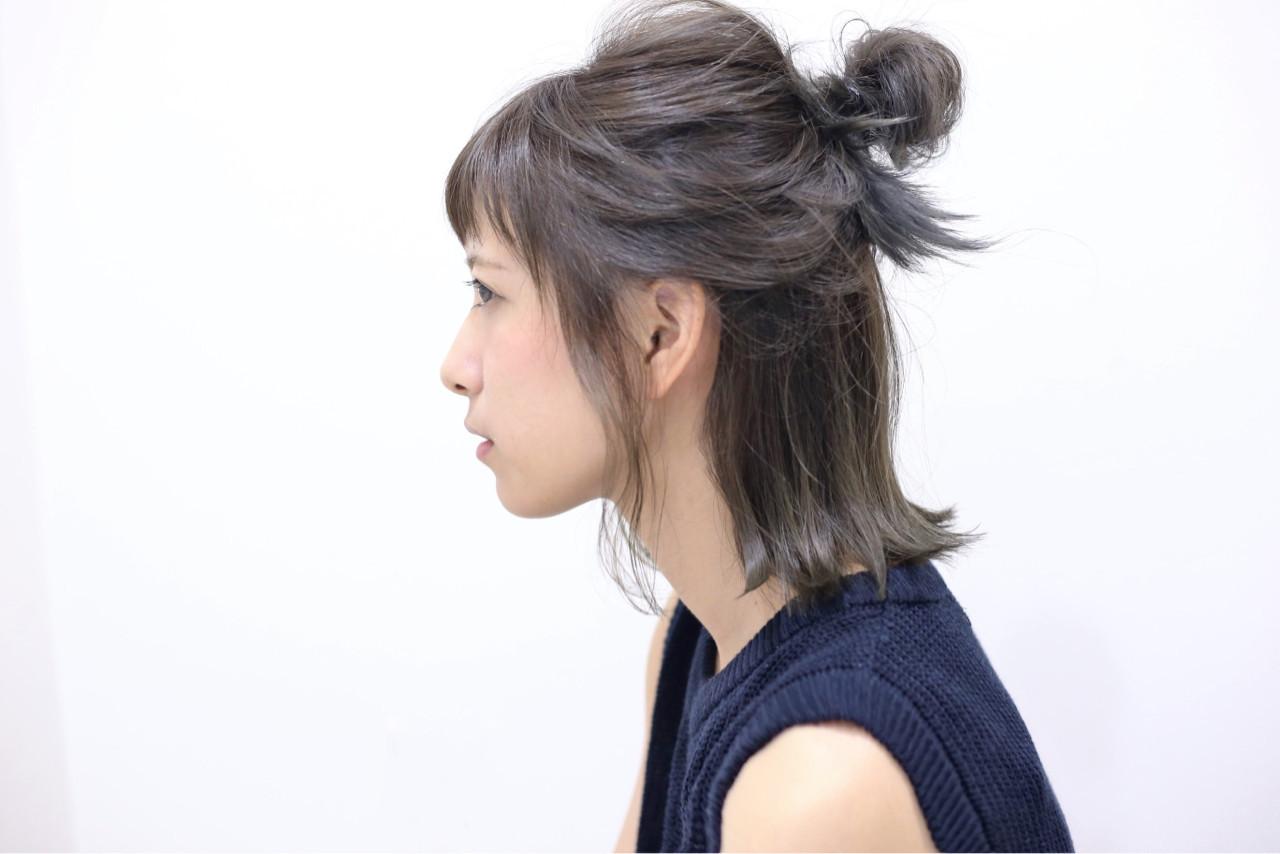 ゴム部分は髪でカバーするとこなれ感アップ 久米 速人  SERIO MOTOYAMA