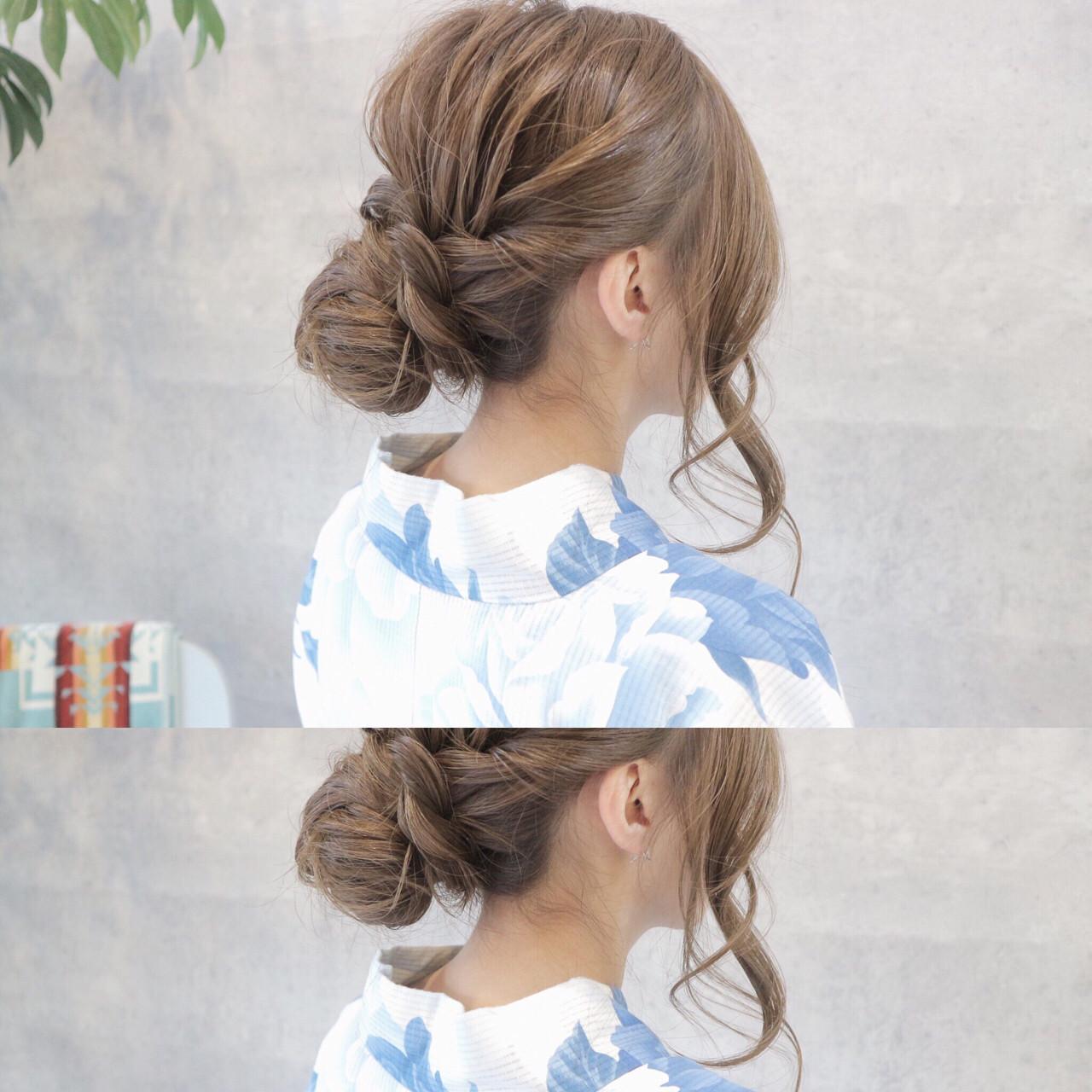 お祭り 花火大会 ロング 色気 ヘアスタイルや髪型の写真・画像