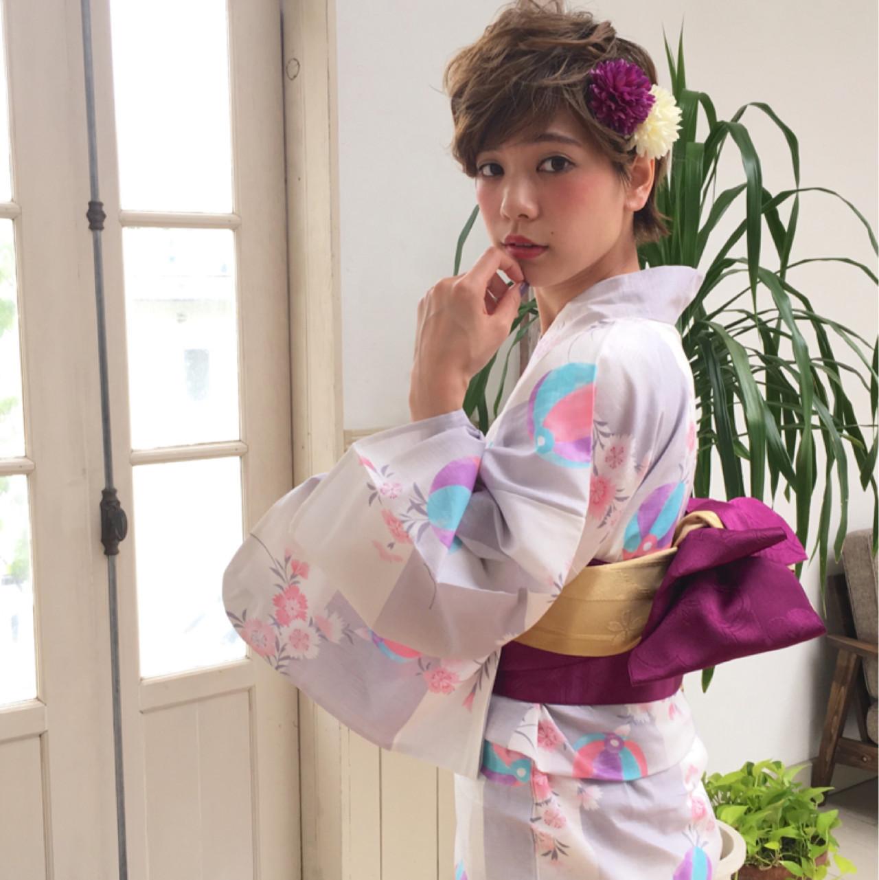 トップの髪をサイドに流してセット! 石川 瑠利子