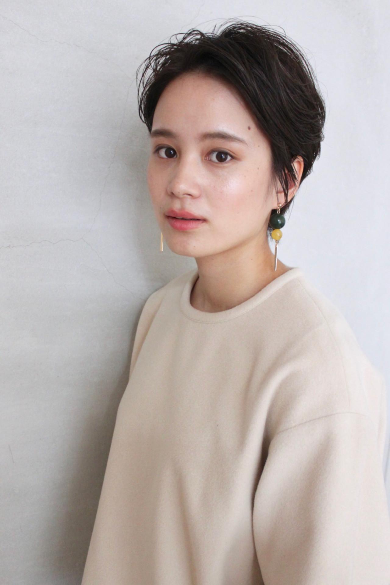 簡単スタイリングのショートヘア okubo shigeru
