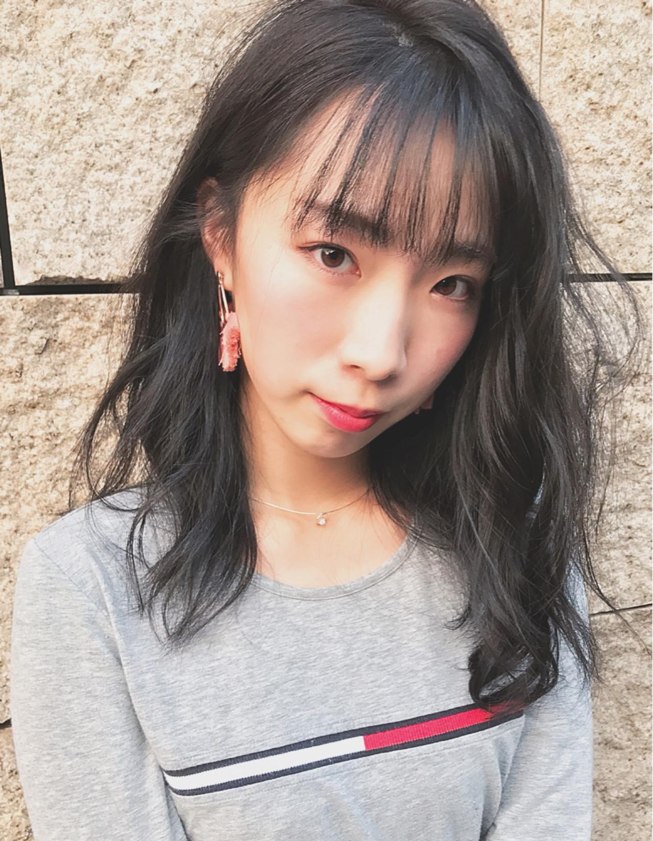 シースルーバング×ワイドバングで透け感たっぷり♡ Kohe Kamijo | CAMINOIA
