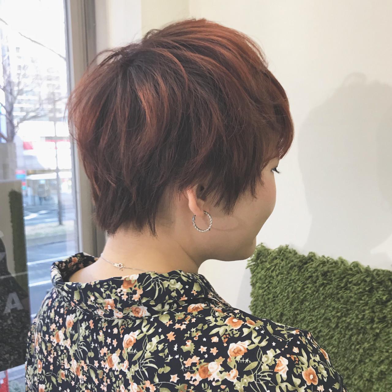 ナチュラル ショート 春 マッシュ ヘアスタイルや髪型の写真・画像