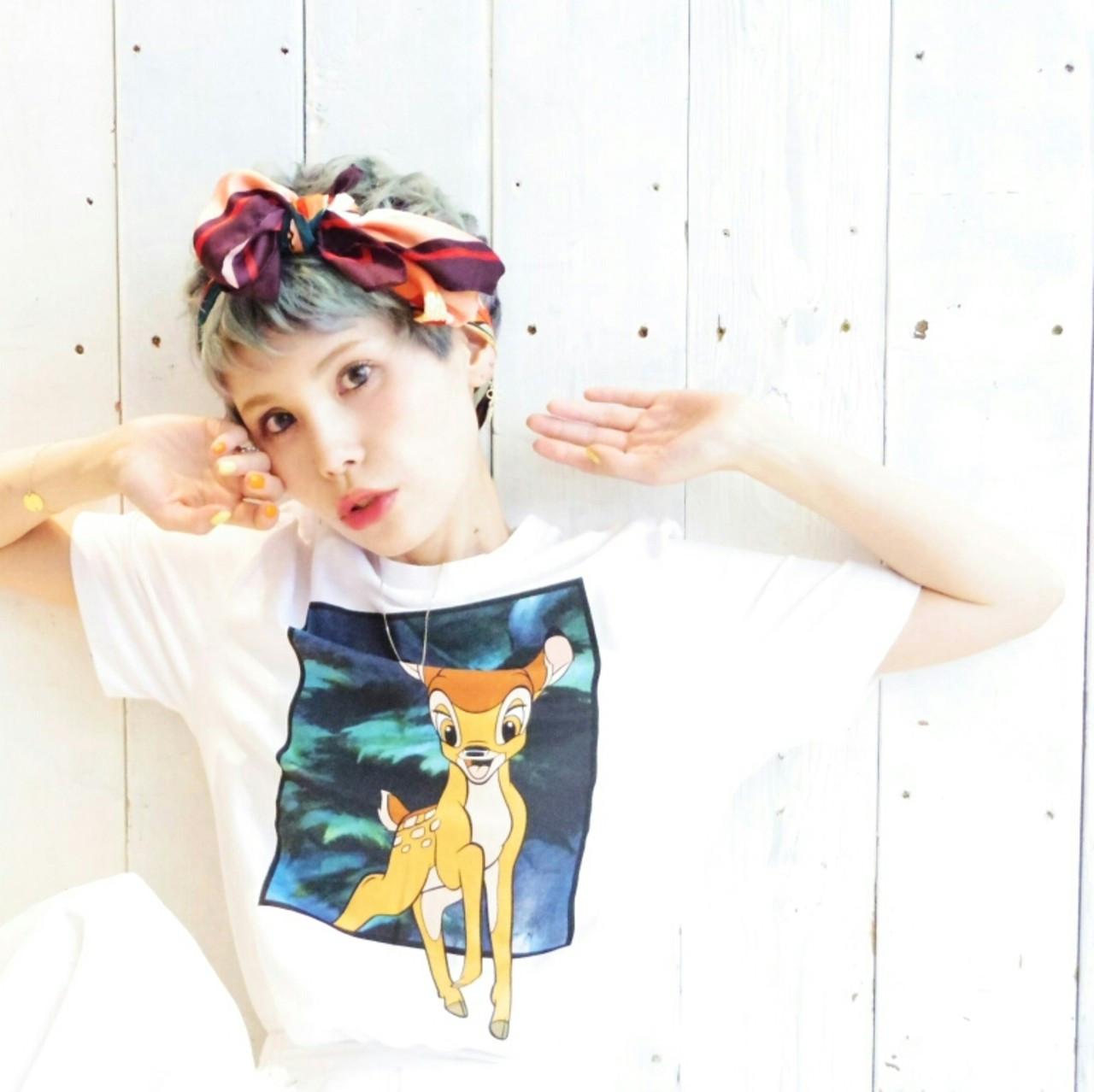 色気 ヘアアクセ ショート ヘアアレンジ ヘアスタイルや髪型の写真・画像