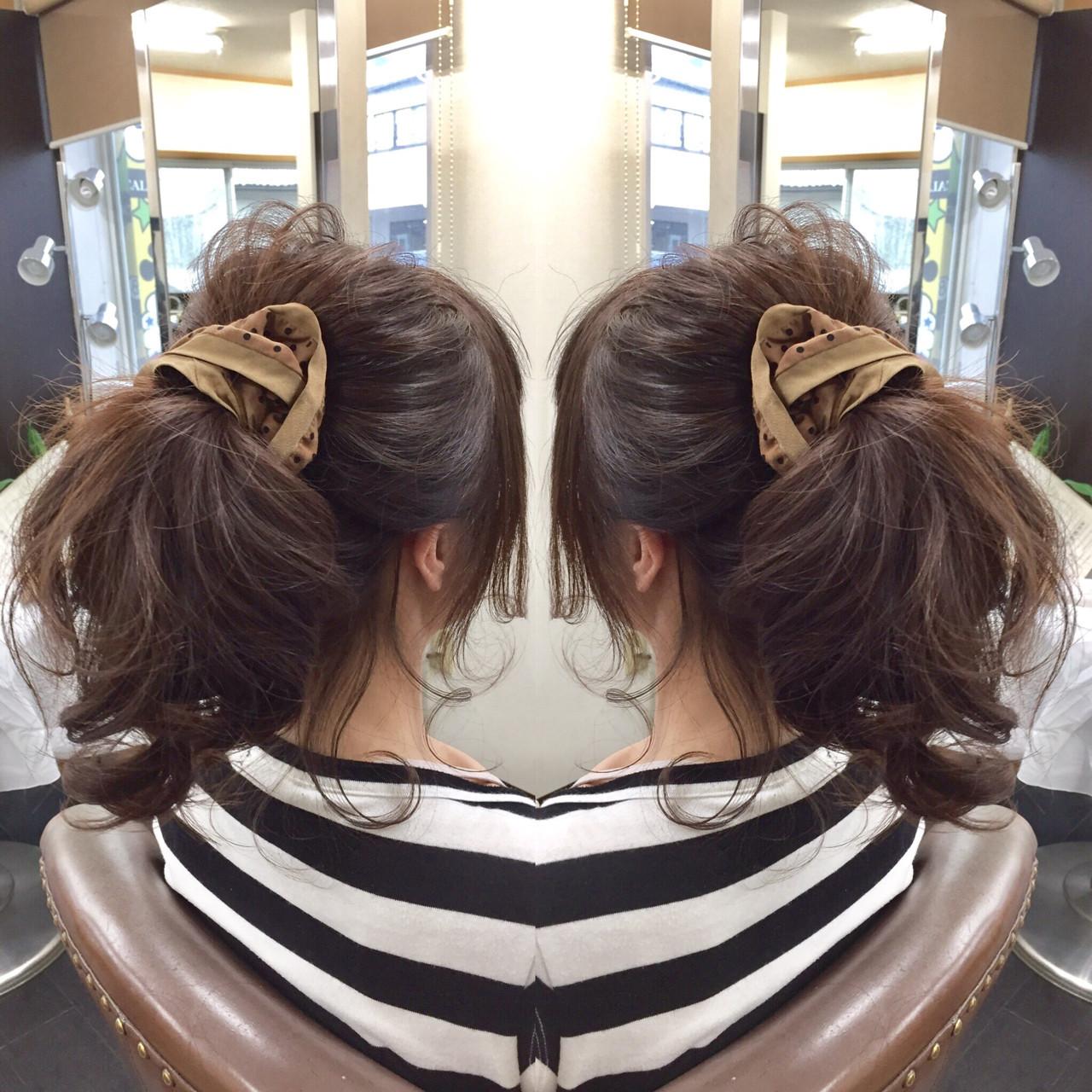 ヘアアレンジ セミロング かわいい 簡単ヘアアレンジ ヘアスタイルや髪型の写真・画像