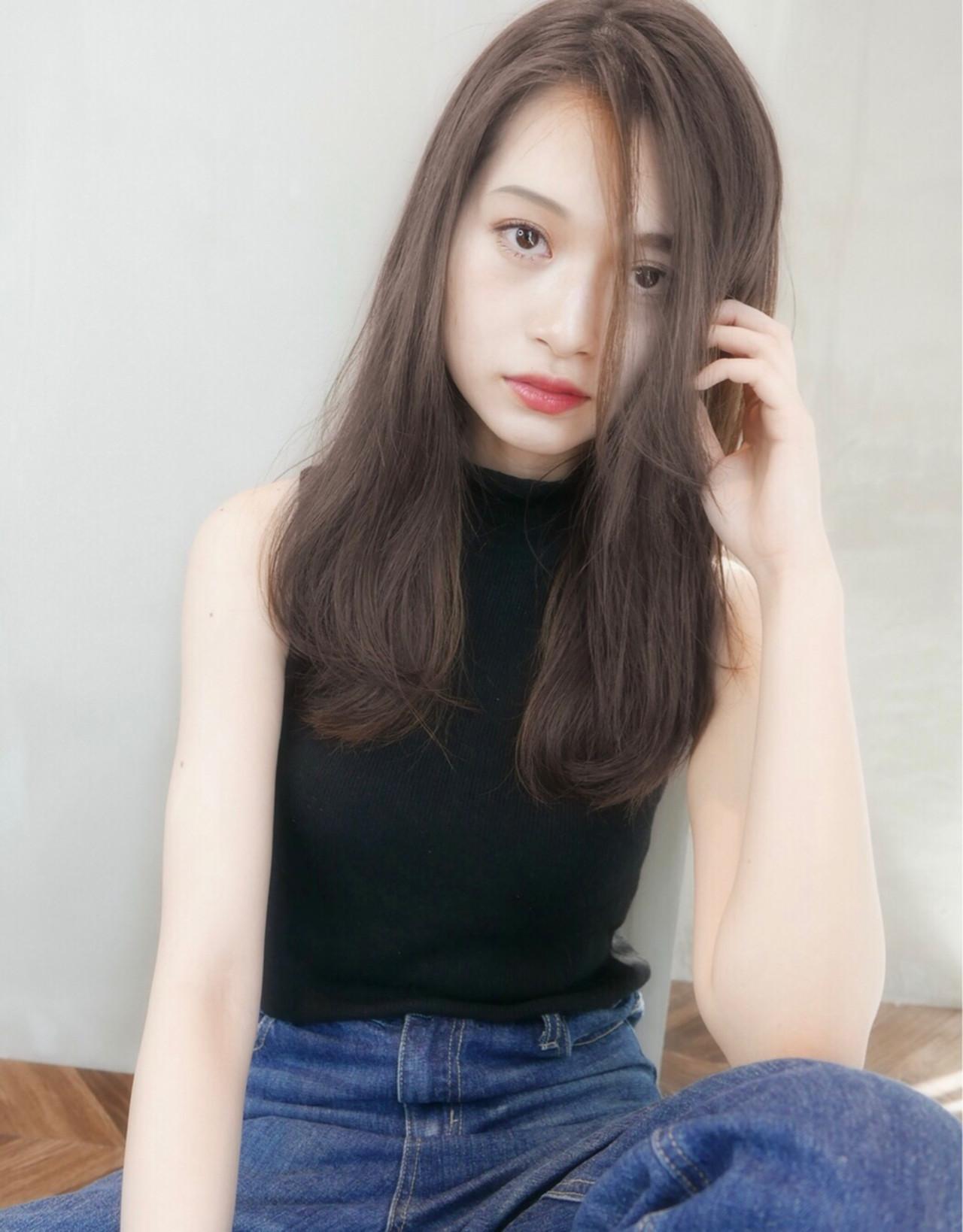 イルミナカラー グレージュ ヘアアレンジ 前髪あり ヘアスタイルや髪型の写真・画像