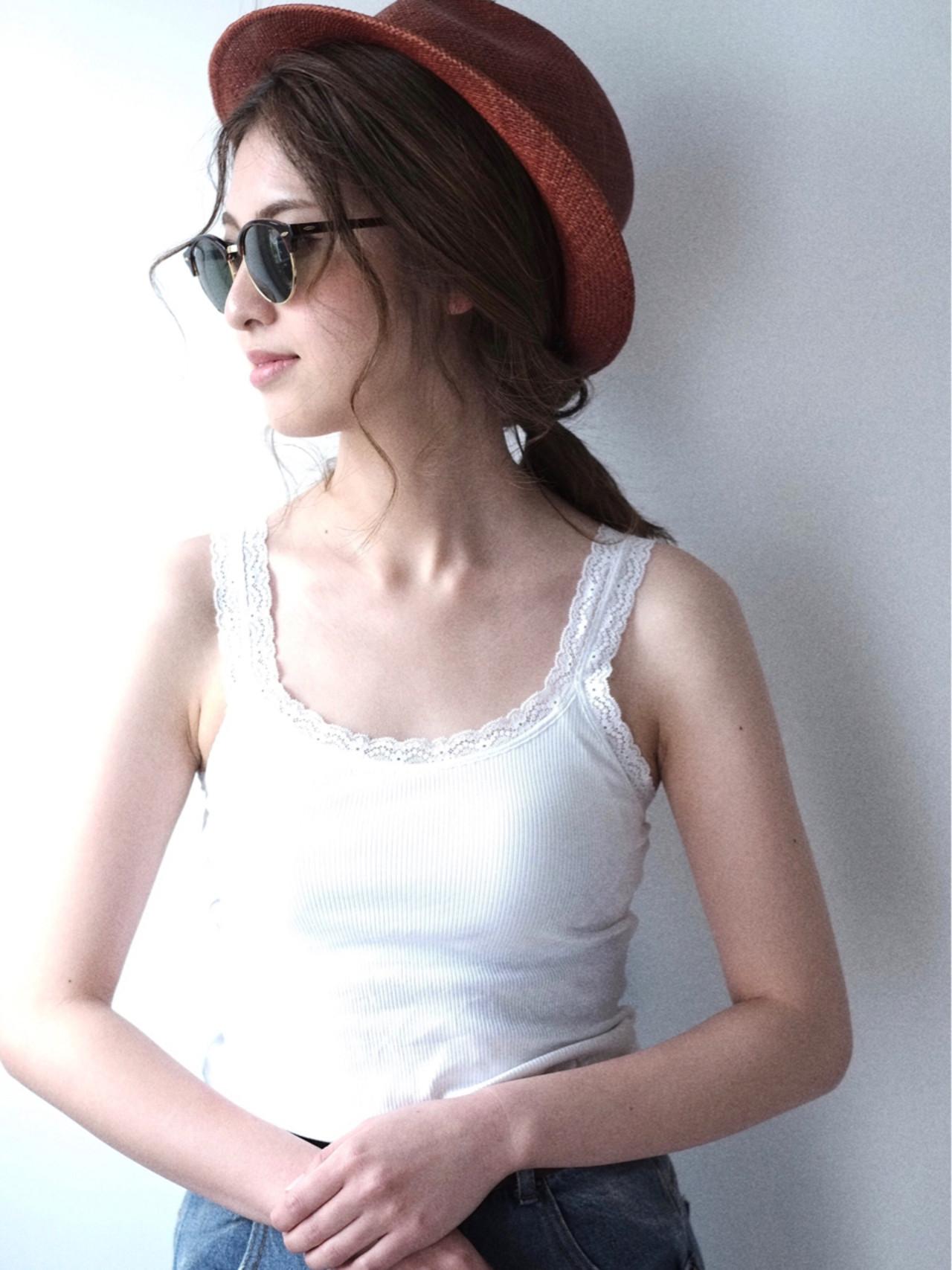 ミディアム 簡単ヘアアレンジ 外国人風 ヘアアレンジ ヘアスタイルや髪型の写真・画像