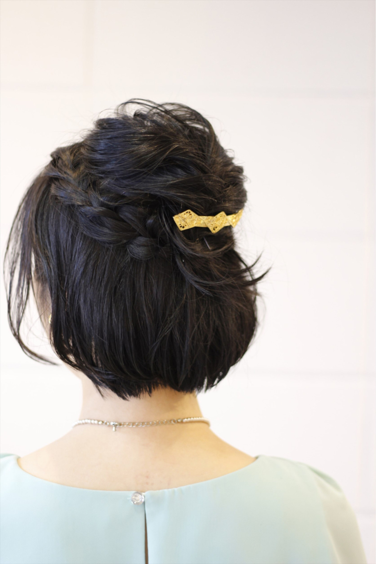 上品 ボブ 結婚式 簡単ヘアアレンジ ヘアスタイルや髪型の写真・画像