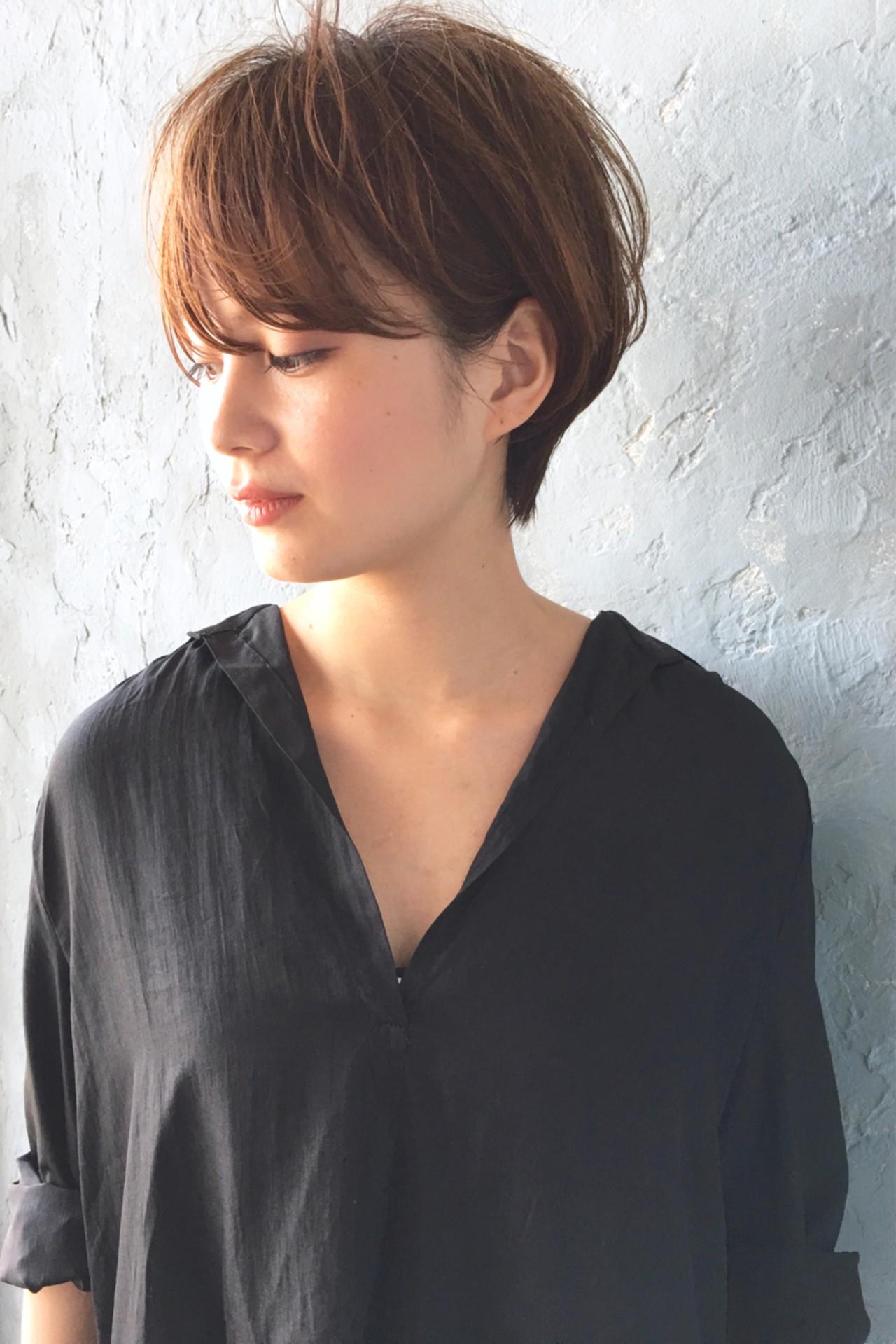 トップにボリュームを持たせた髪型も人気! okubo shigeru