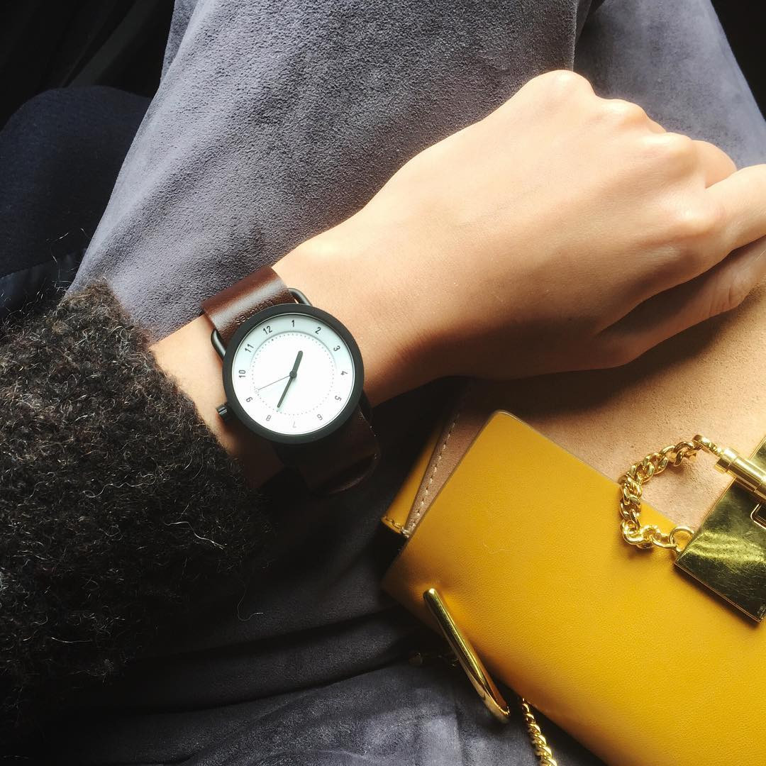 シンプルで高級感もあるレザーストラップ時計! nagina001