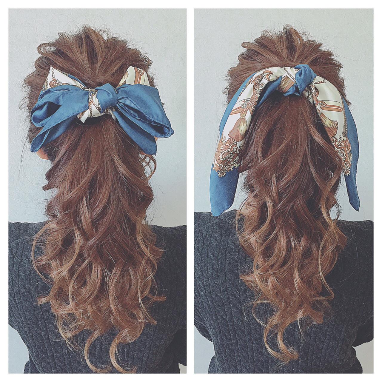 ヘアアレンジ ヘアアクセ ガーリー ポニーテール ヘアスタイルや髪型の写真・画像